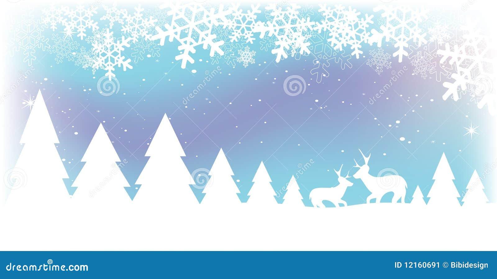 Weihnachtsschnee-Szene vektor abbildung. Illustration von kalt ...