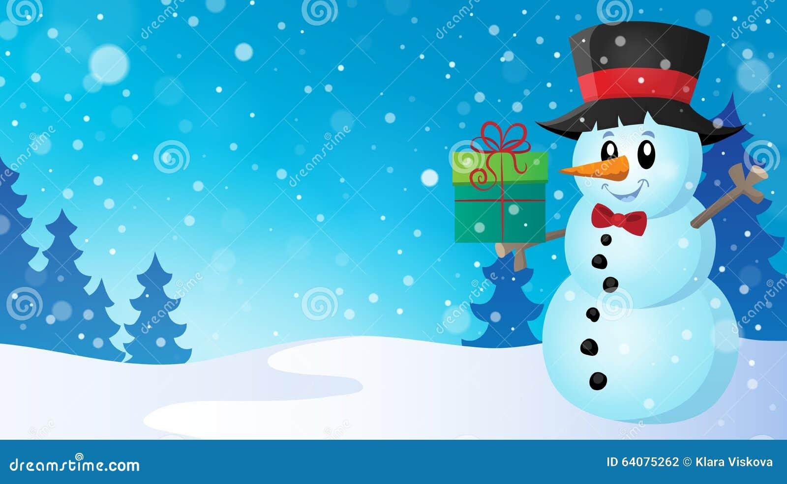 Weihnachtsschneemann-Themabild 7 Vektor Abbildung - Illustration von ...