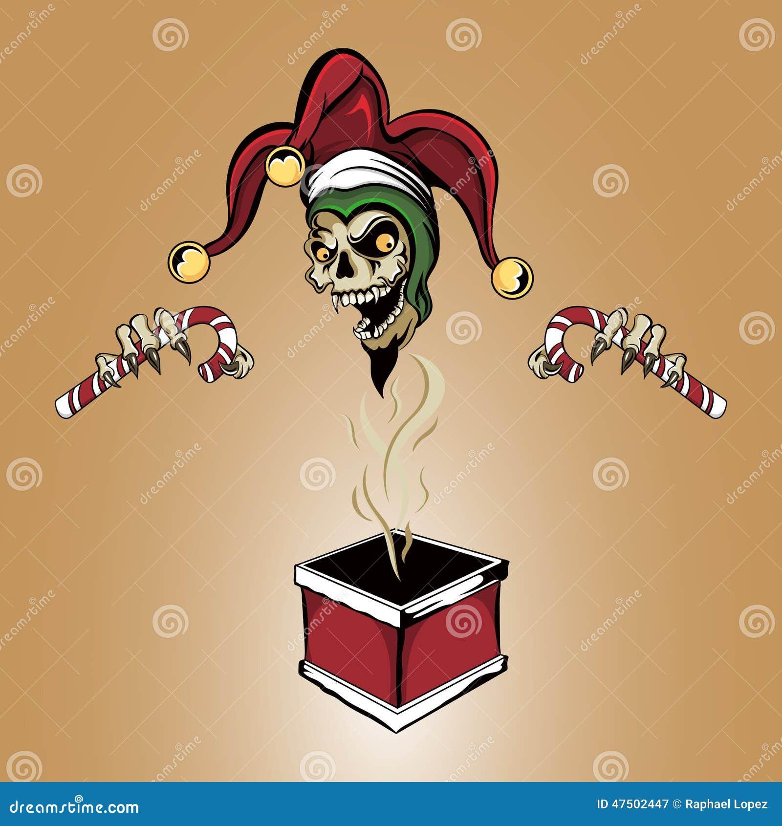 Weihnachtsspassvogel-Zombie-Schädel Vektor Abbildung - Illustration ...