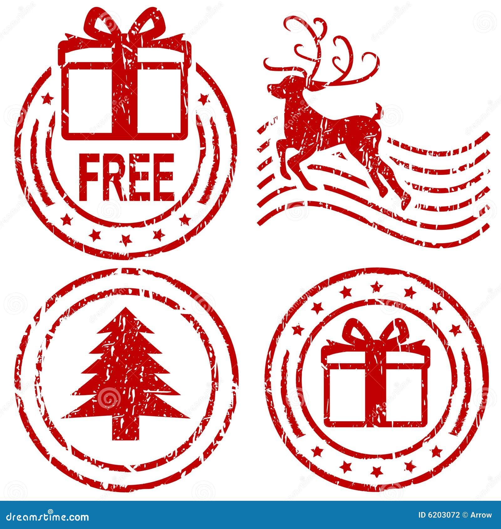 WeihnachtsStempel stock abbildung. Illustration von send - 6202964