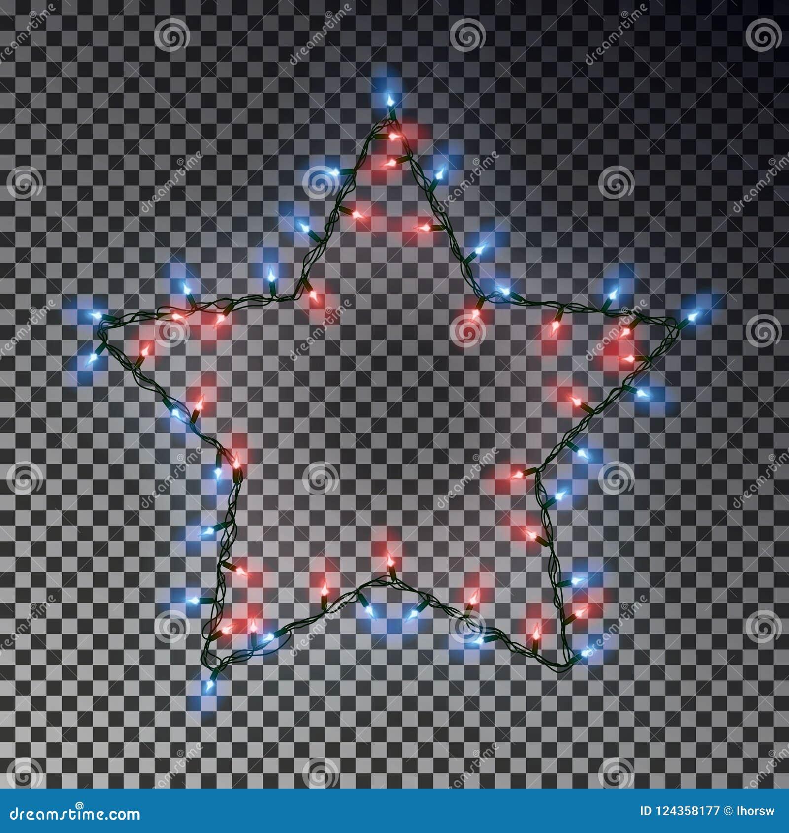 Weihnachtsstern Der Lichtkette Lokalisiert Auf Transparentem ...