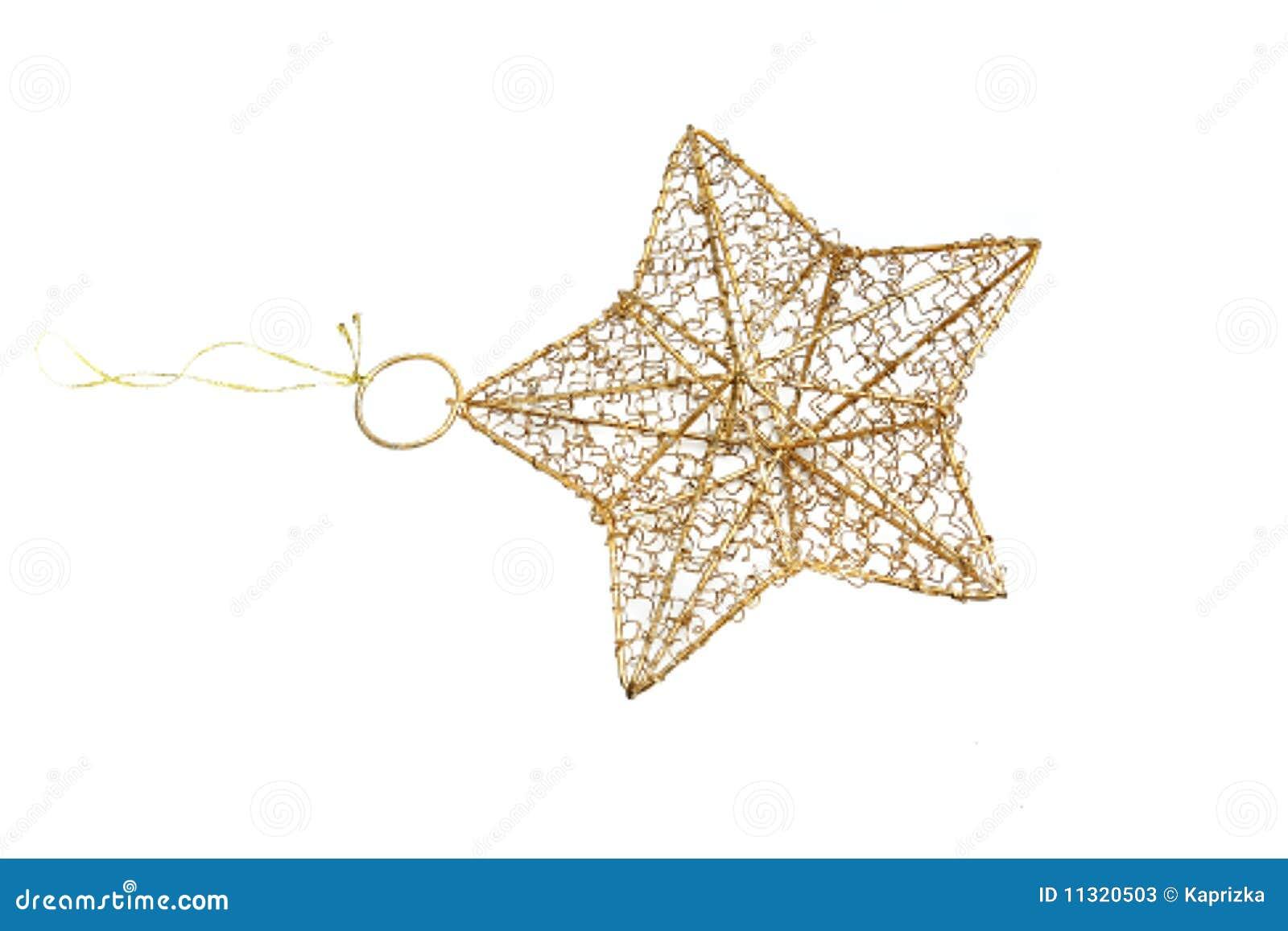 Weihnachtsstern getrennt auf weißem Hintergrund