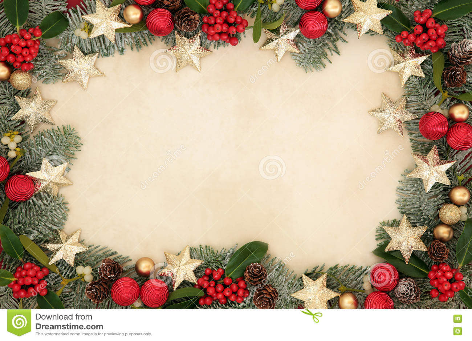 Weihnachtsstern-Hintergrund-Grenze Stockbild - Bild von dekoration ...