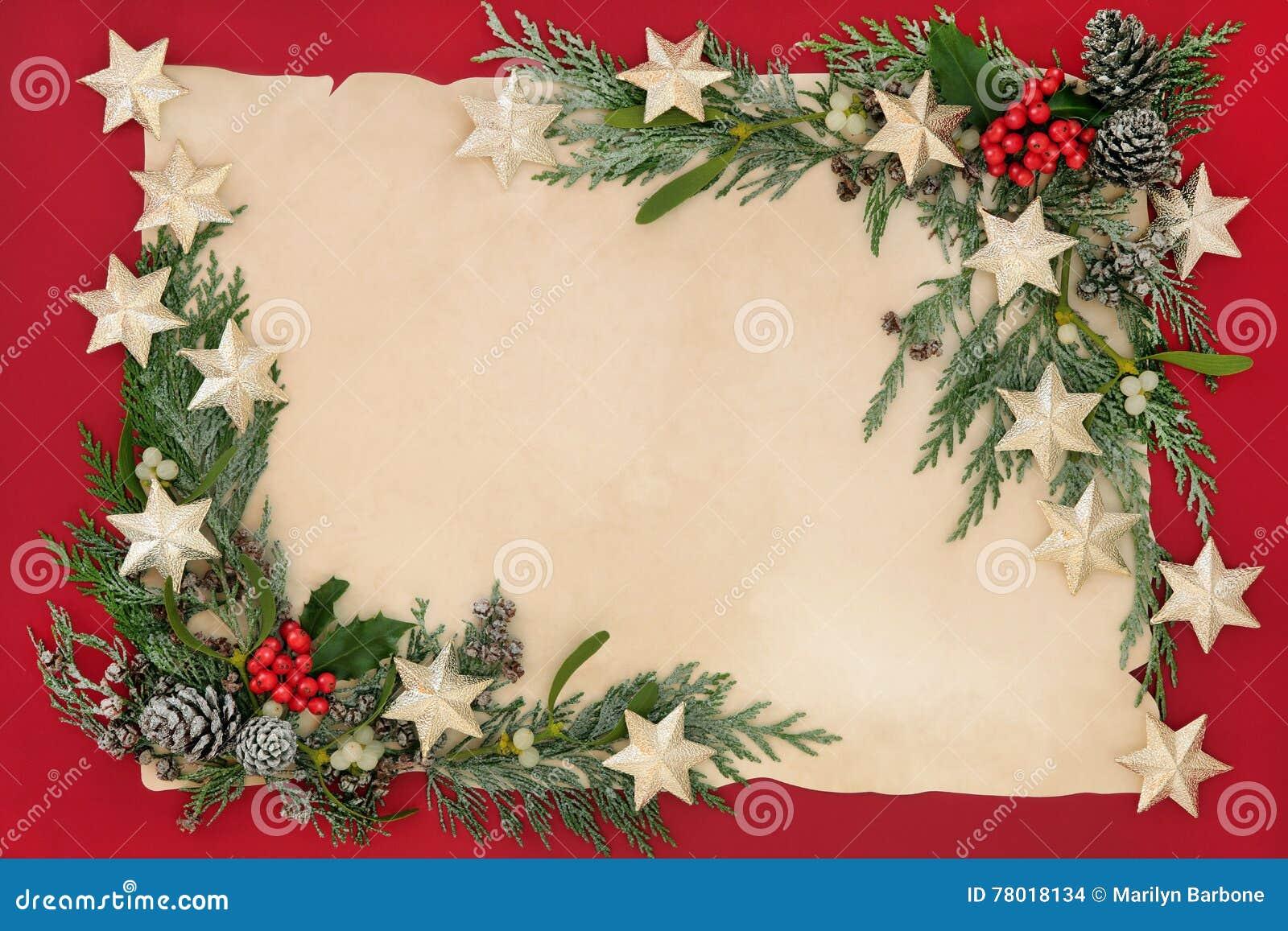 Weihnachtsstern-Hintergrund-Grenze Stockfoto - Bild von leerzeichen ...