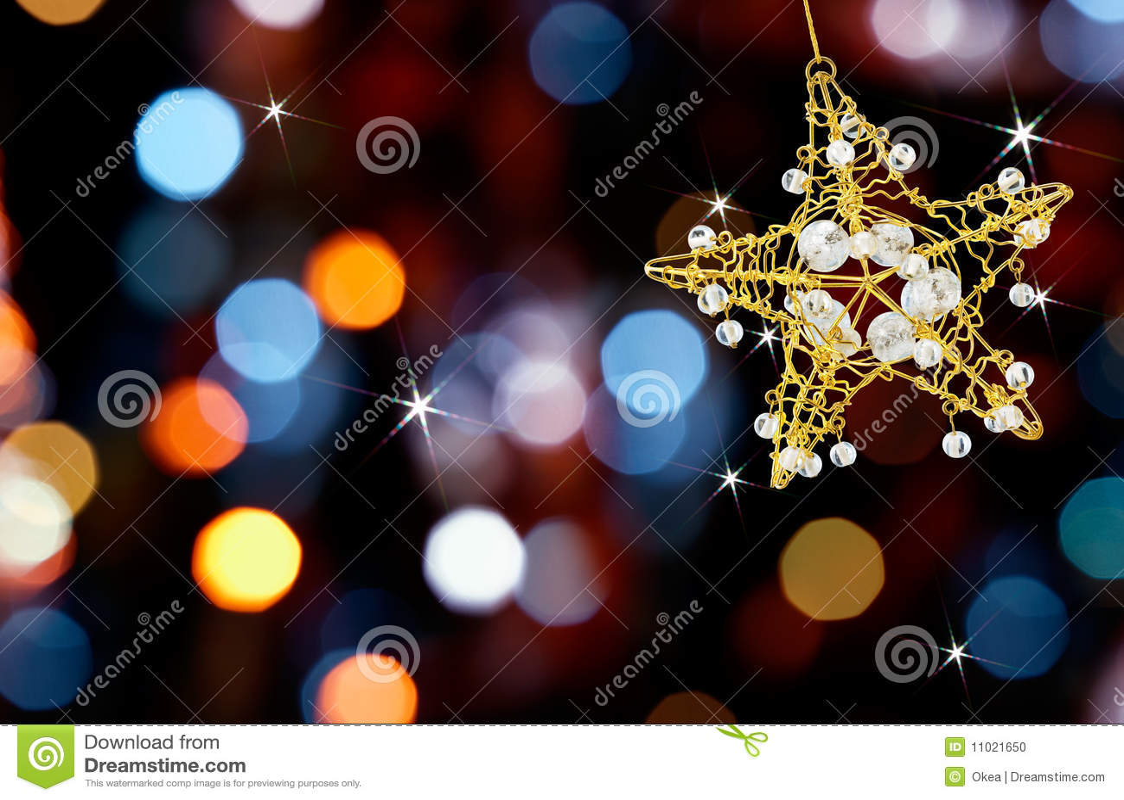 Weihnachtsstern mit Leuchten