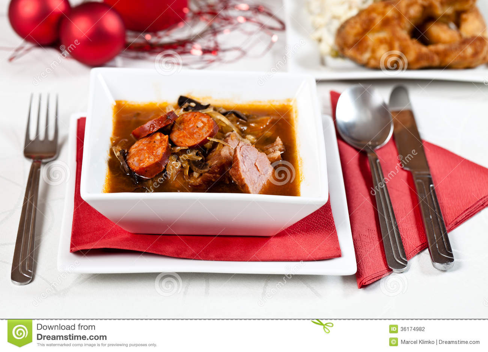 Weihnachtssuppe stockfoto. Bild von sauer, pilz, frisch - 36174982