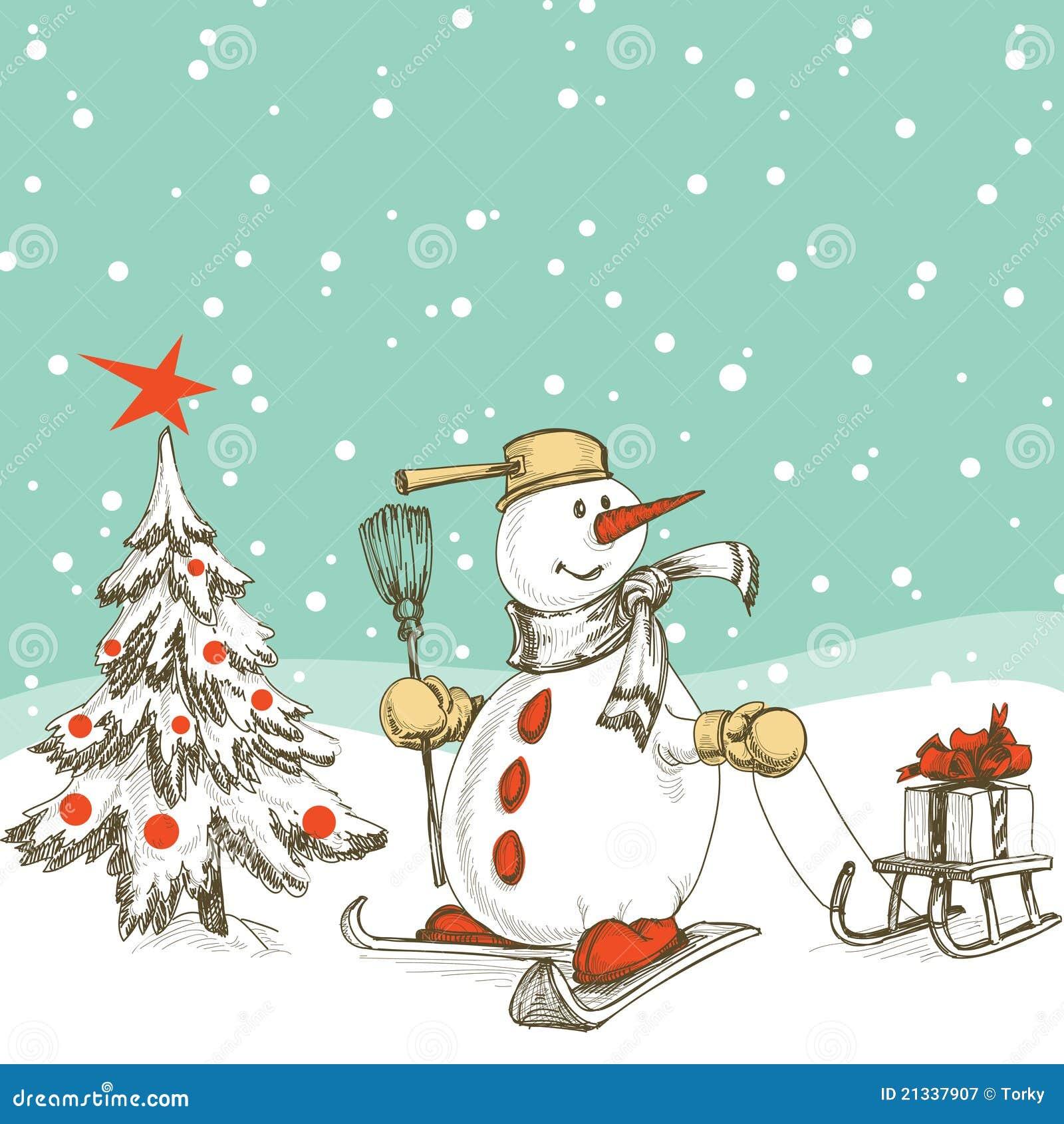 Weihnachtsszene vektor abbildung. Illustration von kugeln - 21337907