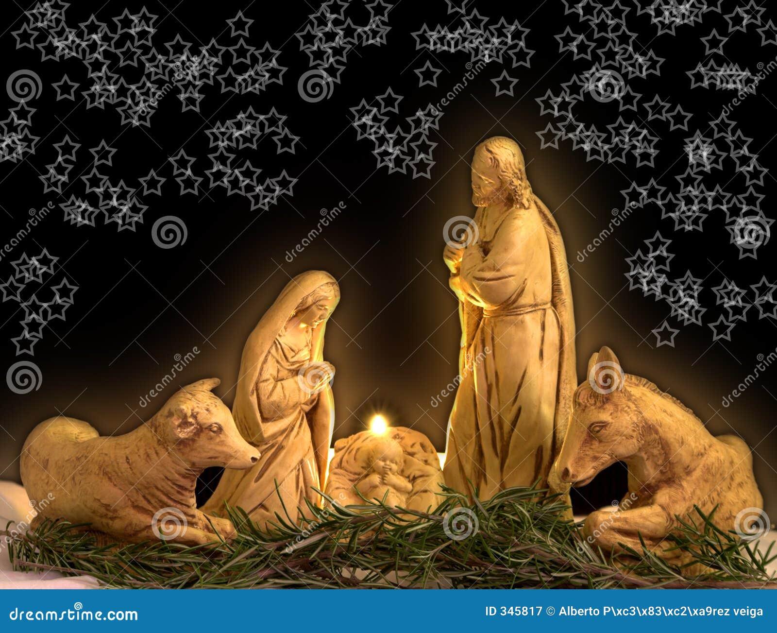 Weihnachtsszene stockbild. Bild von weihnachten, leuchte - 345817