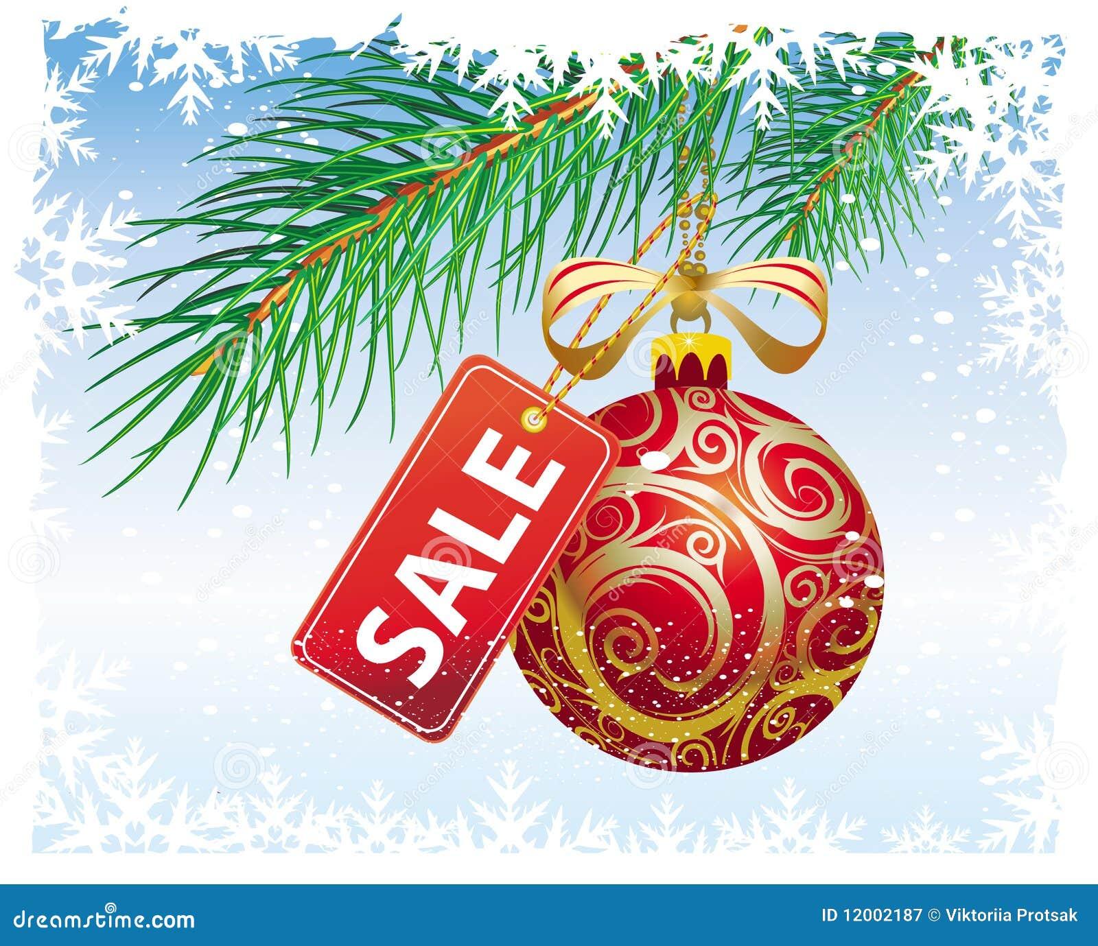 Weihnachtsverkauf vektor abbildung. Illustration von feiertag - 12002187