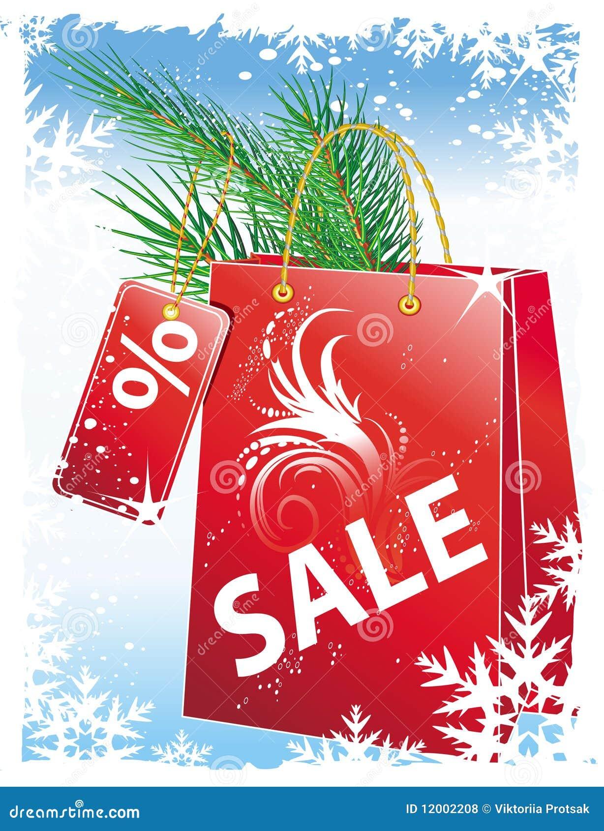 Weihnachtsverkauf vektor abbildung. Illustration von verkauf - 12002208