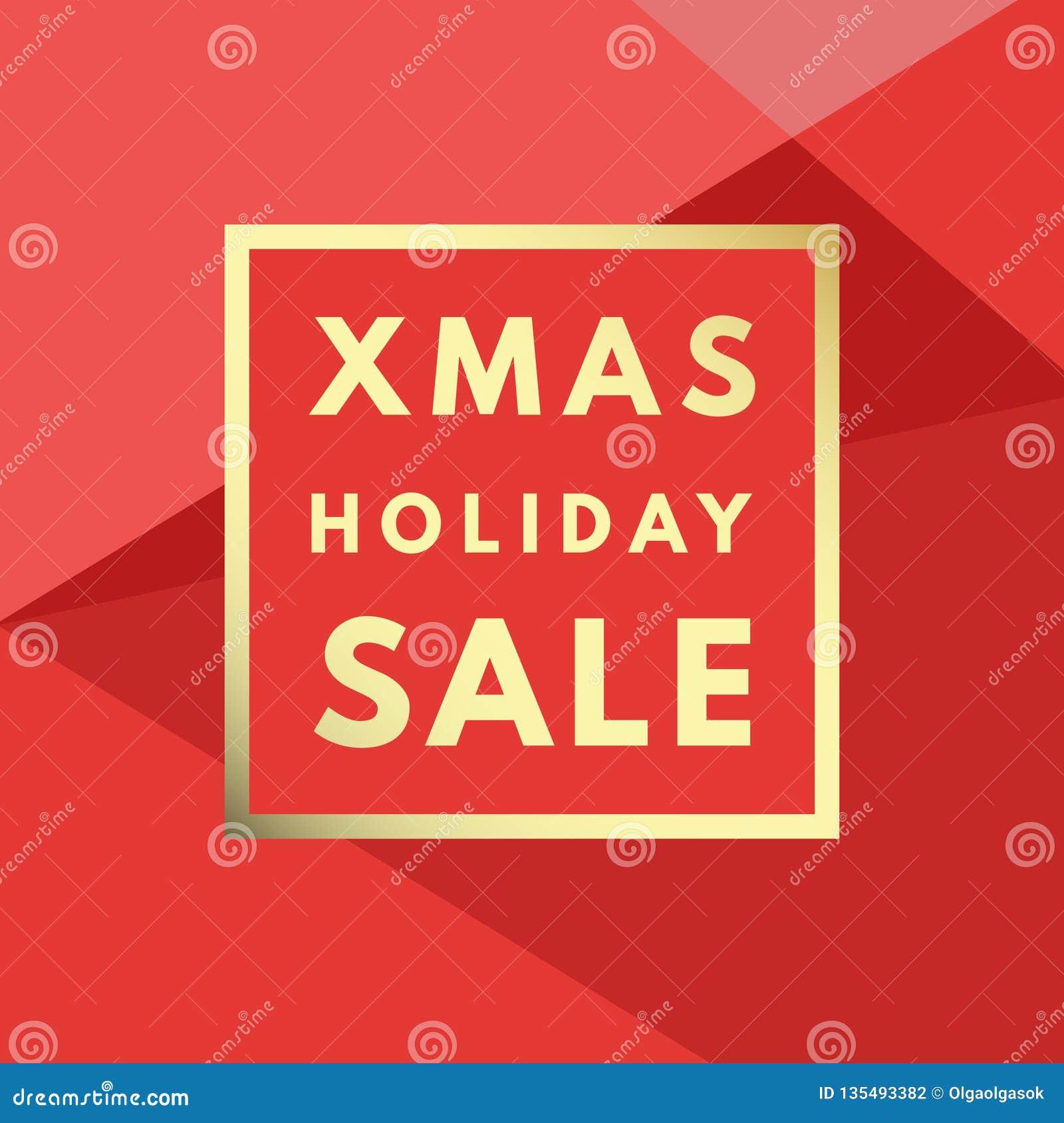 Weihnachtsverkauf kreativ, minimale Wintergrußkarte