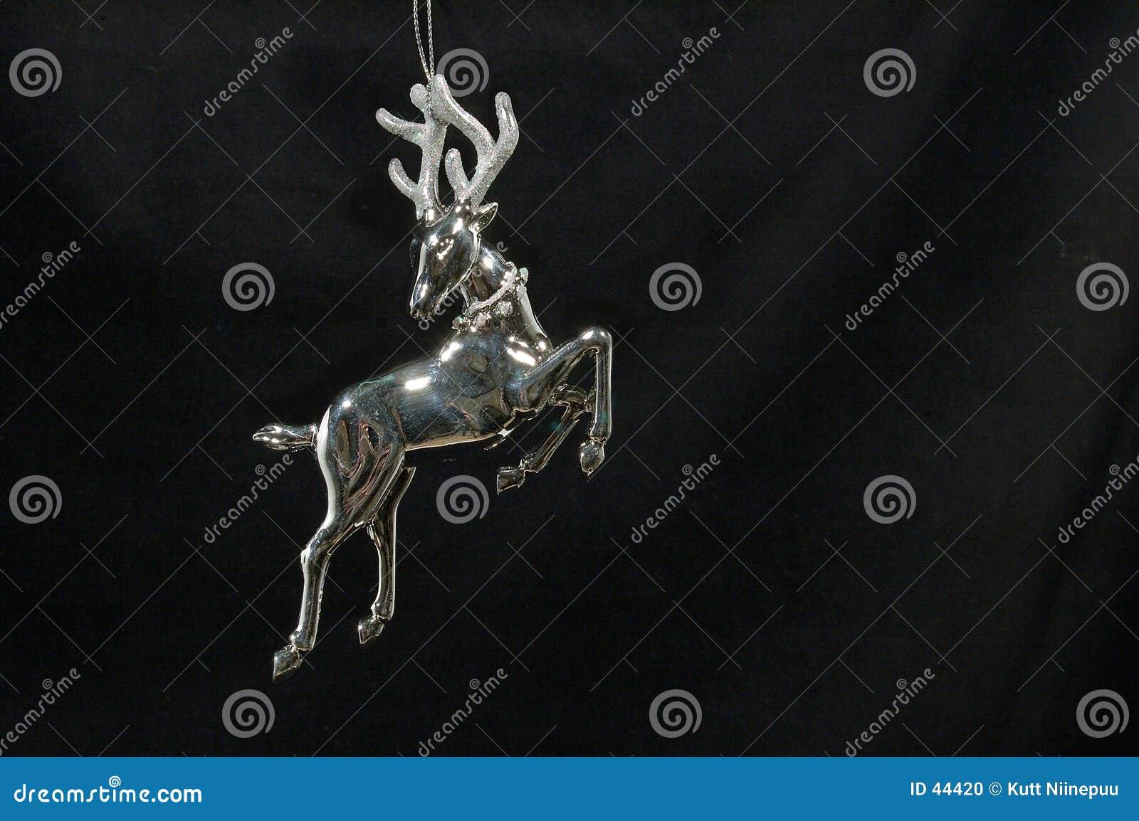 Weihnachtsverzierung - silbernes Ren