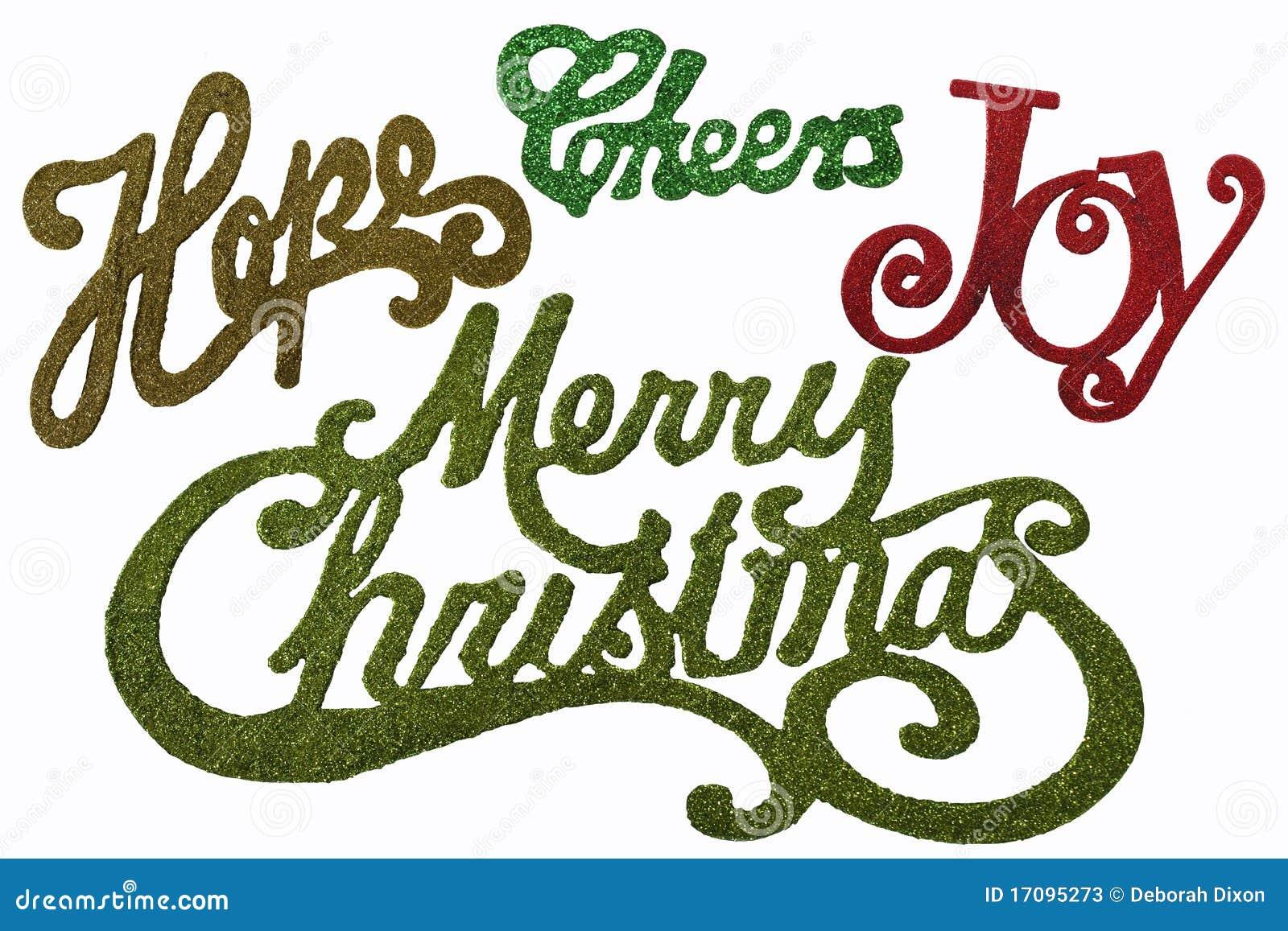 Weihnachtswörter Im Funkeln Und In Den Farben Stockbild Bild Von