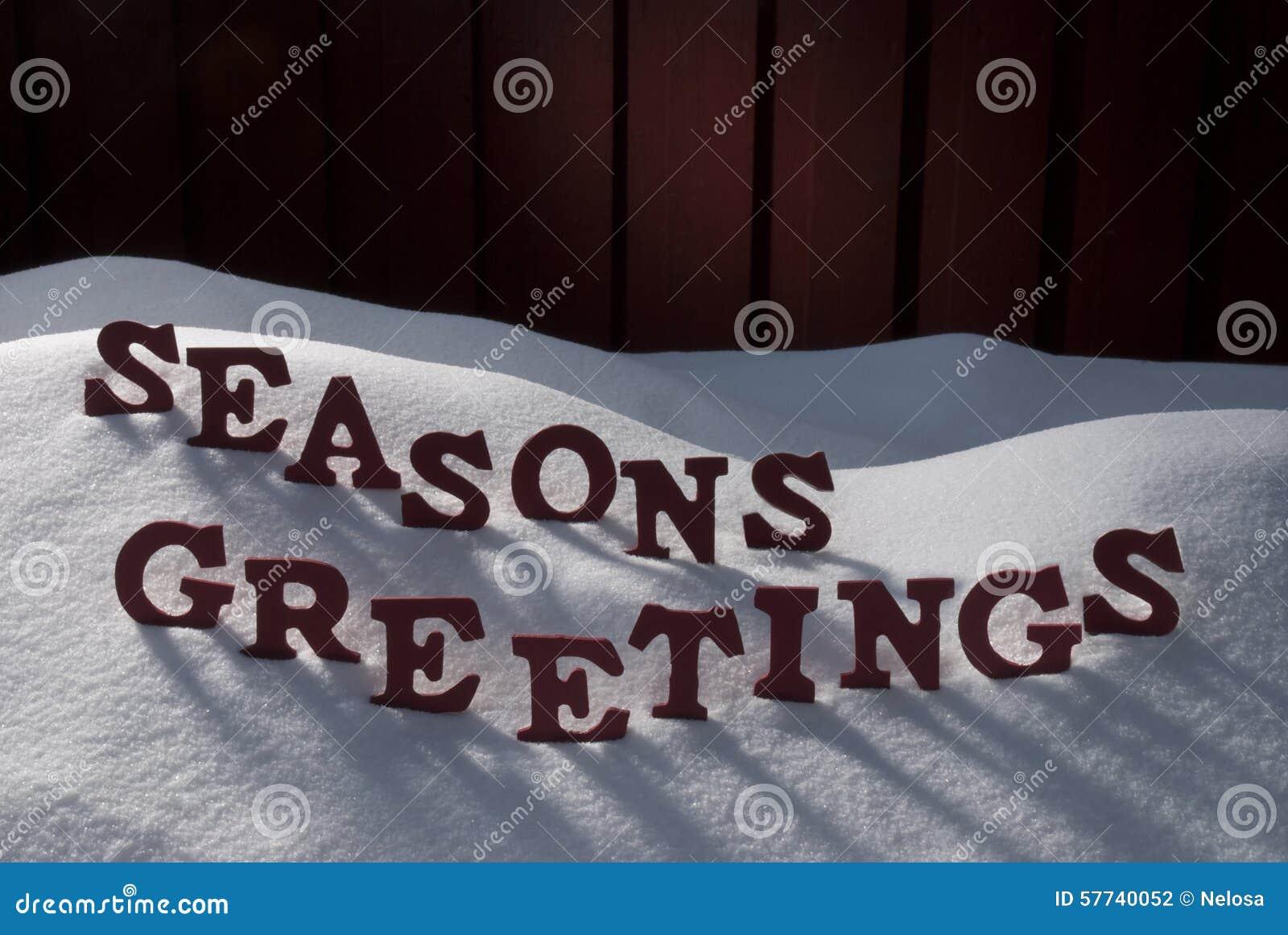 Weihnachtswort Würzt Grüße Auf Schnee Stockfoto - Bild von leuchte ...