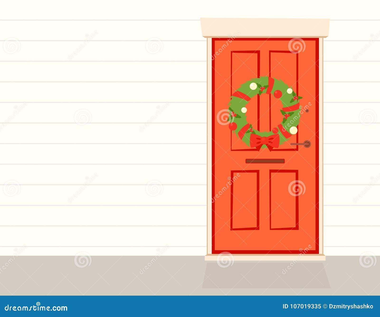 WeihnachtsWreath auf Tür