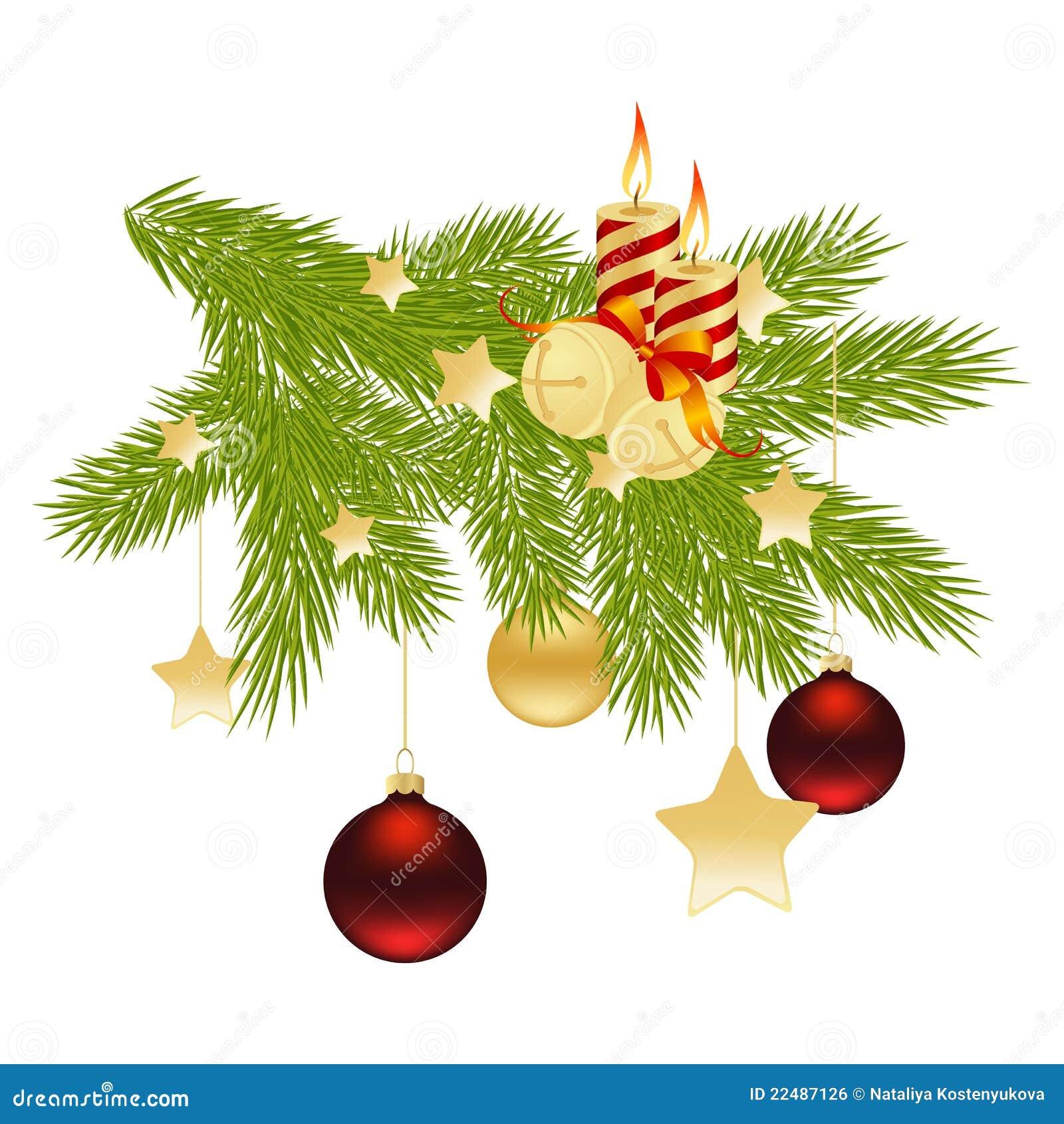 weihnachtszweig vektor abbildung illustration von dekoration 22487126. Black Bedroom Furniture Sets. Home Design Ideas