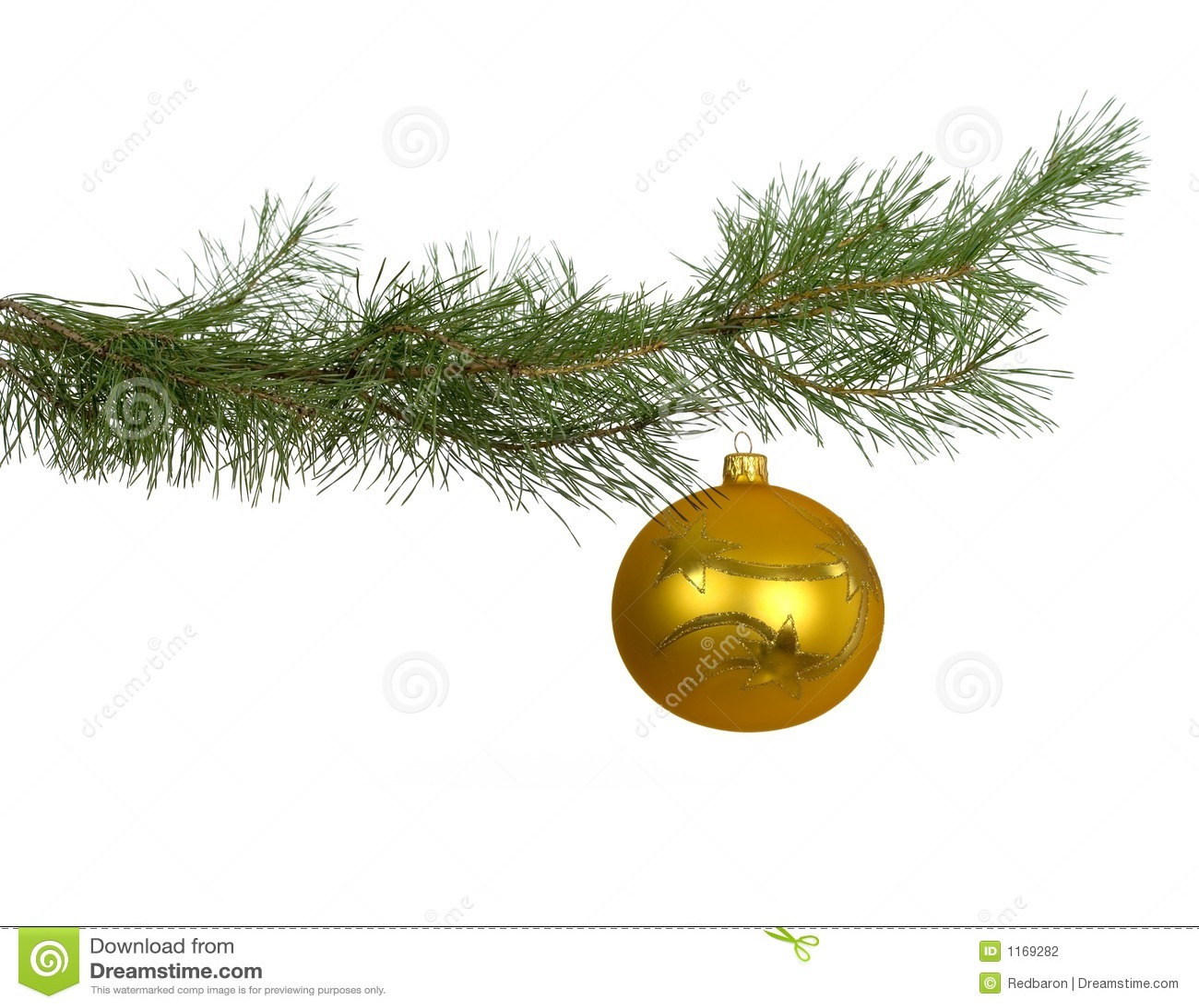 weihnachtszweig mit goldenem flitter stockfoto bild von koniferen winter 1169282. Black Bedroom Furniture Sets. Home Design Ideas