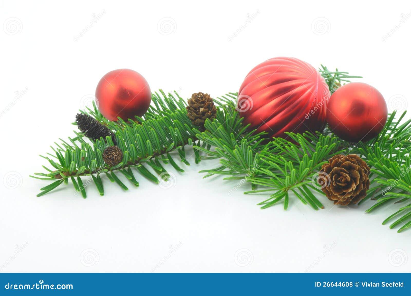 weihnachtszweig mit kugel stockfoto bild von fr hlich 26644608. Black Bedroom Furniture Sets. Home Design Ideas