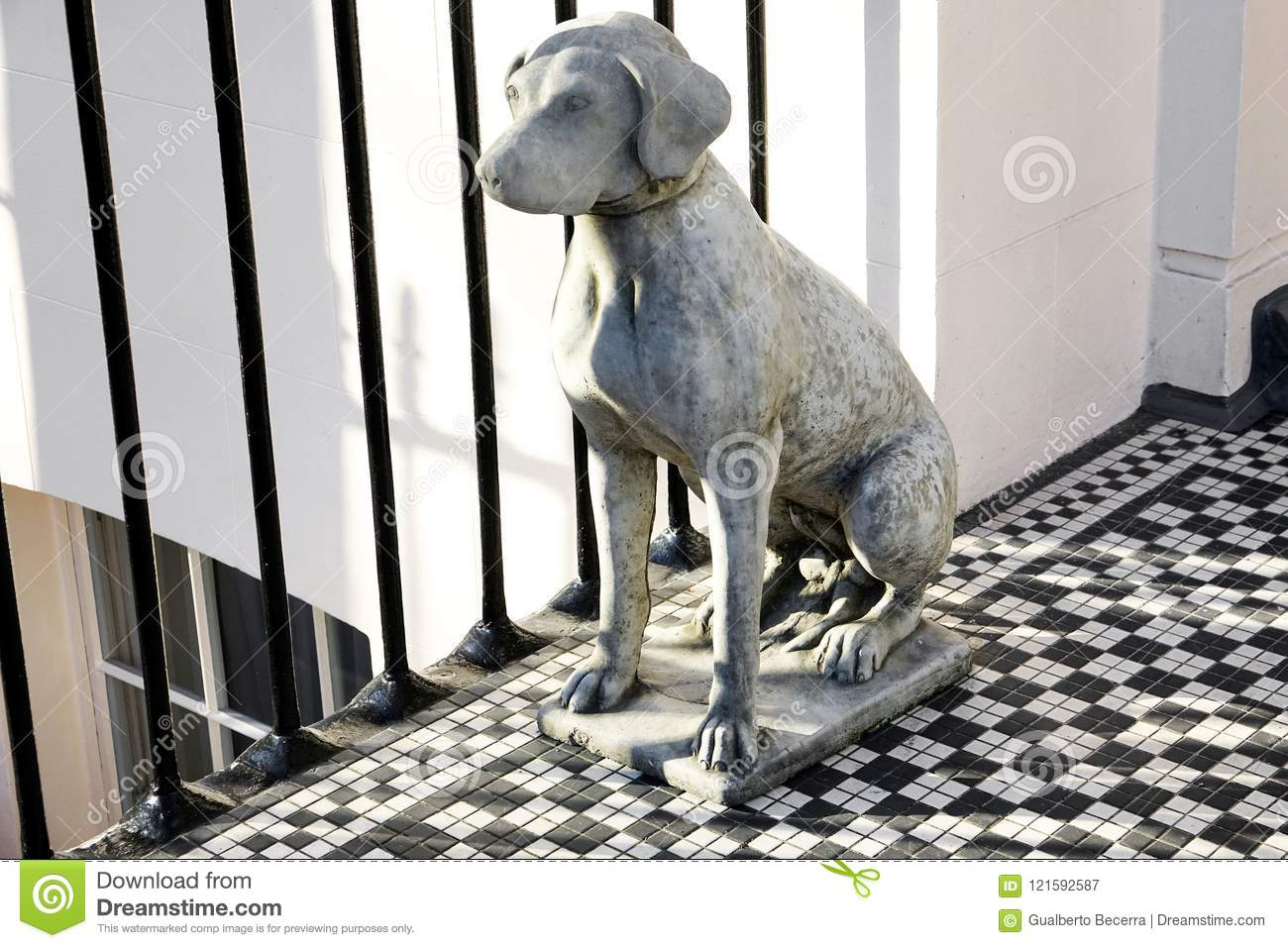 Weimaraner Statue stock image. Image of apartment, front ...