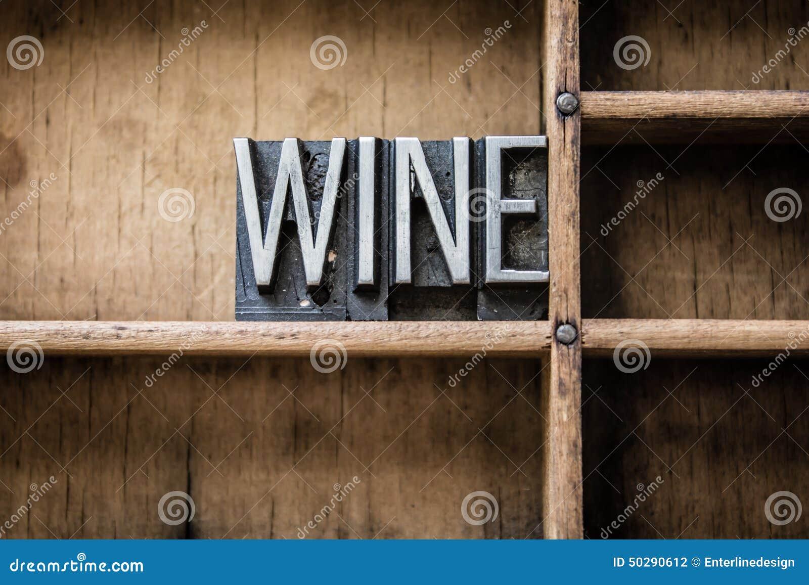 Wein-Briefbeschwerer tippen Fach ein