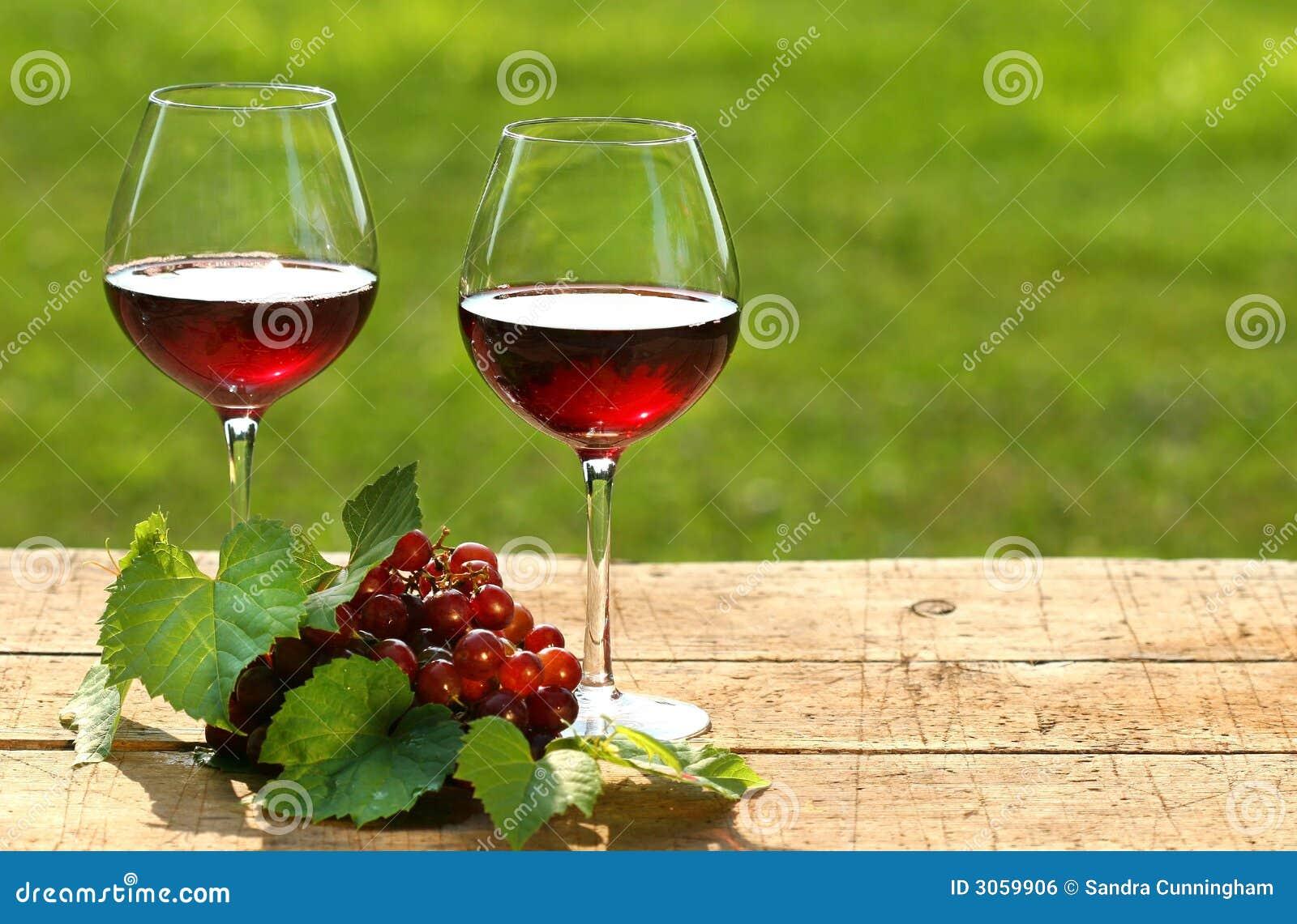 Wein an einem Sommertag