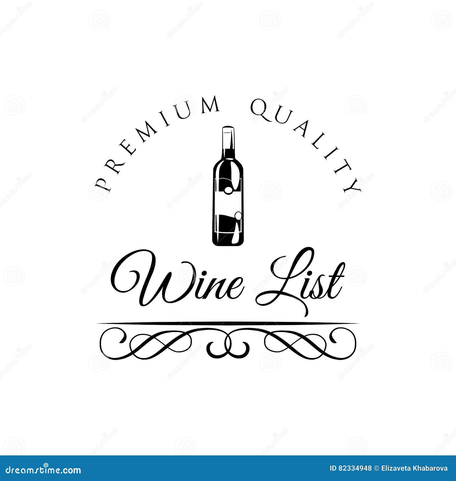 Wein-Listen-Flaschen-Menü-Karten-Designschablone Auch Im Corel ...