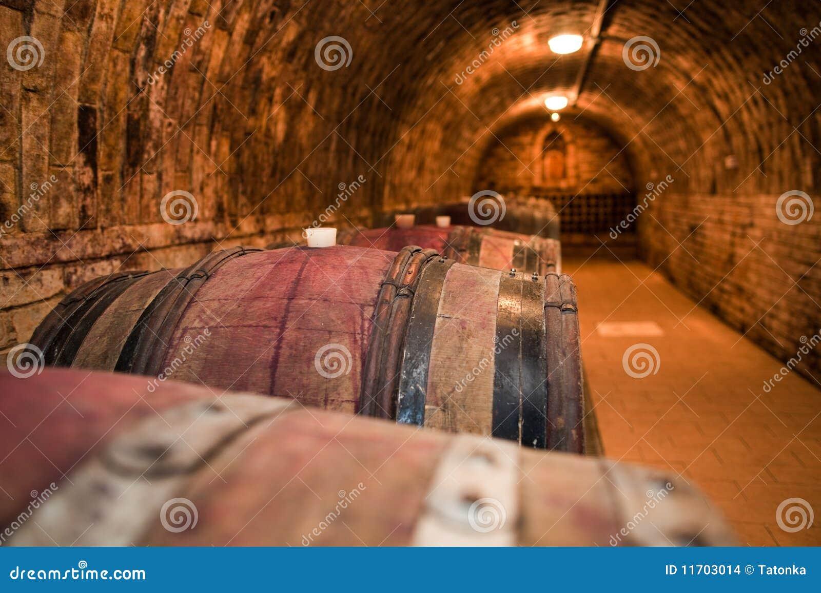 Fußboden Aus Weinfässern ~ Weinfässer im keller stockfoto bild von getränke fußboden
