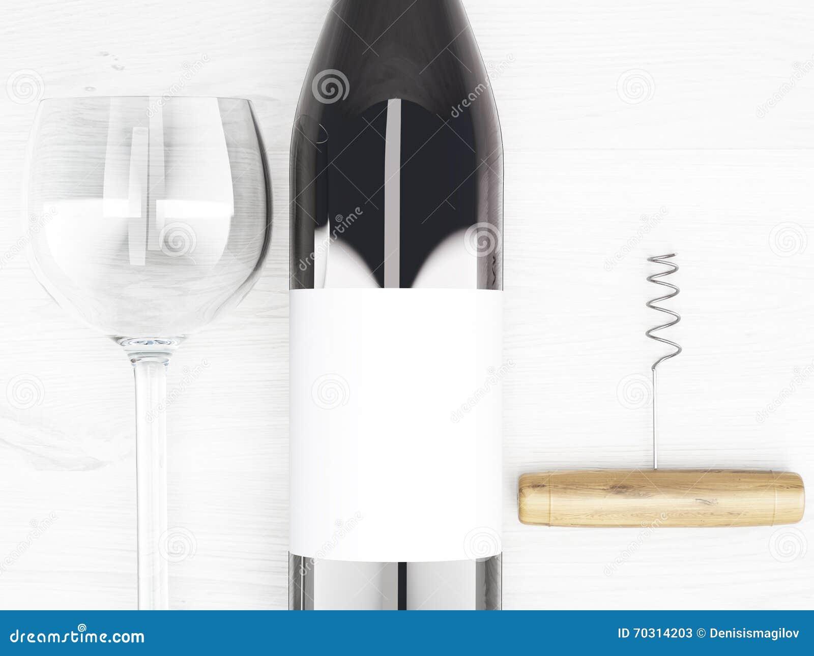 weinflasche und glas stock abbildung illustration von. Black Bedroom Furniture Sets. Home Design Ideas