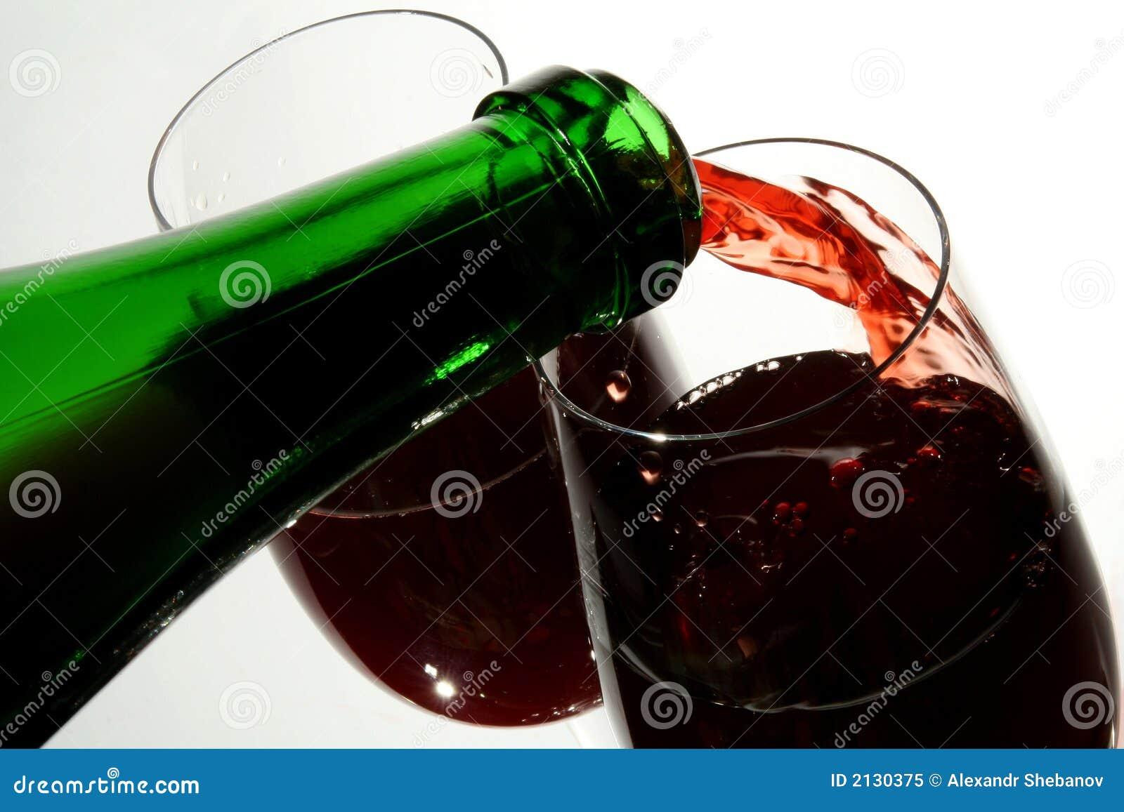 Weinglas Guter Französischer Wein Stockbild - Bild von getränk ...