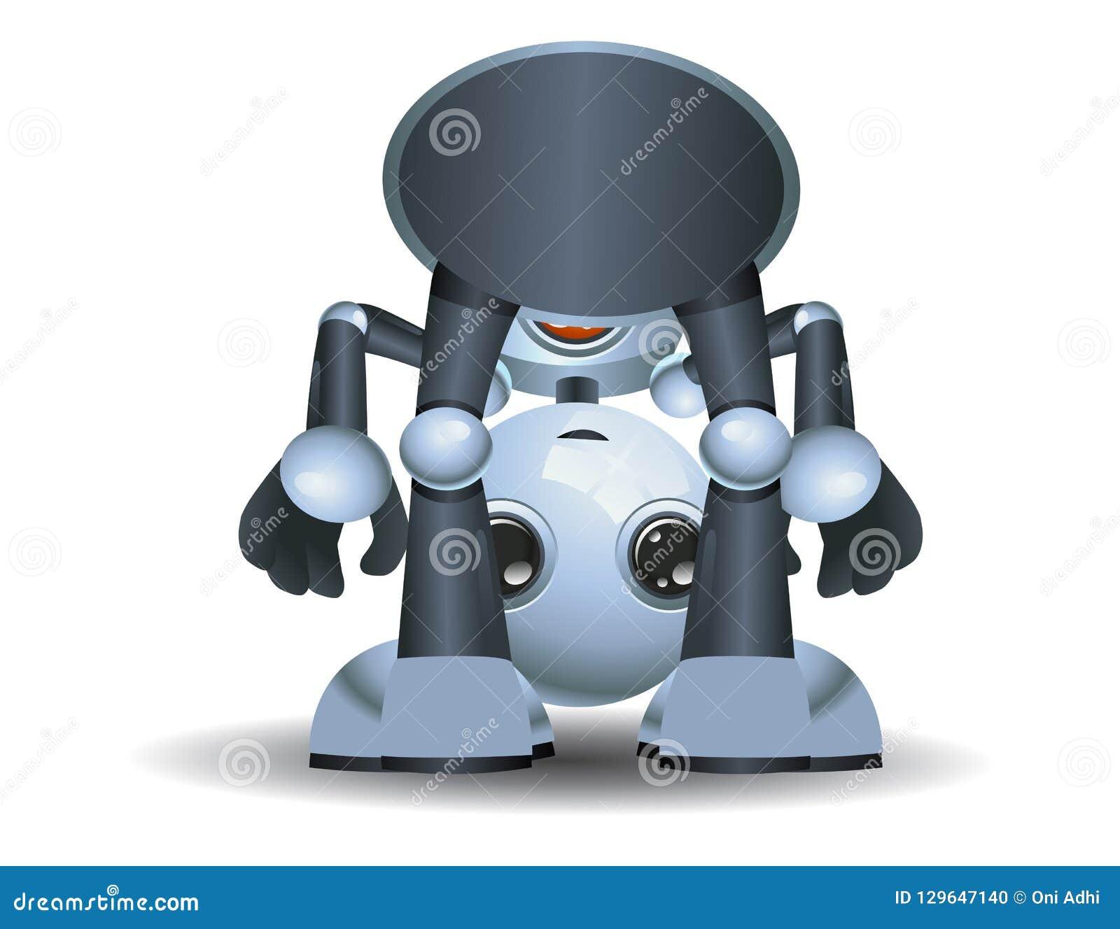 Weinig robotbaby die rond spelen