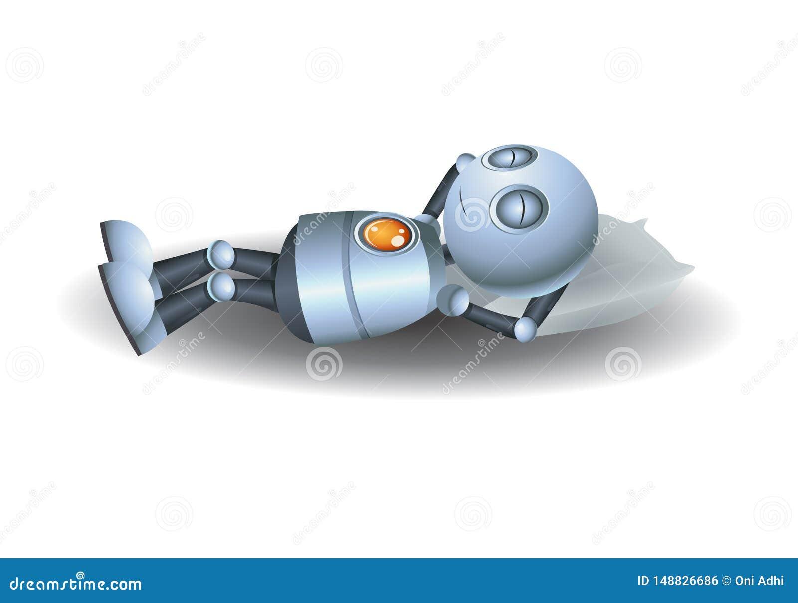 Weinig robotslaap op hoofdkussen