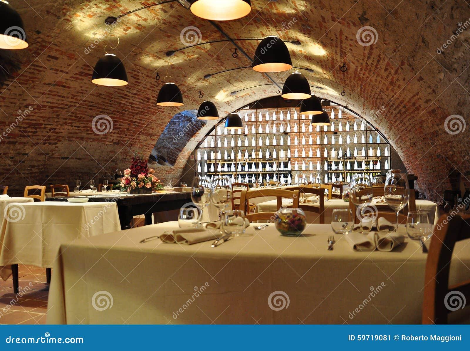 Weinkeller-Feinschmeckerrestaurant Moderne Innenarchitektur ...