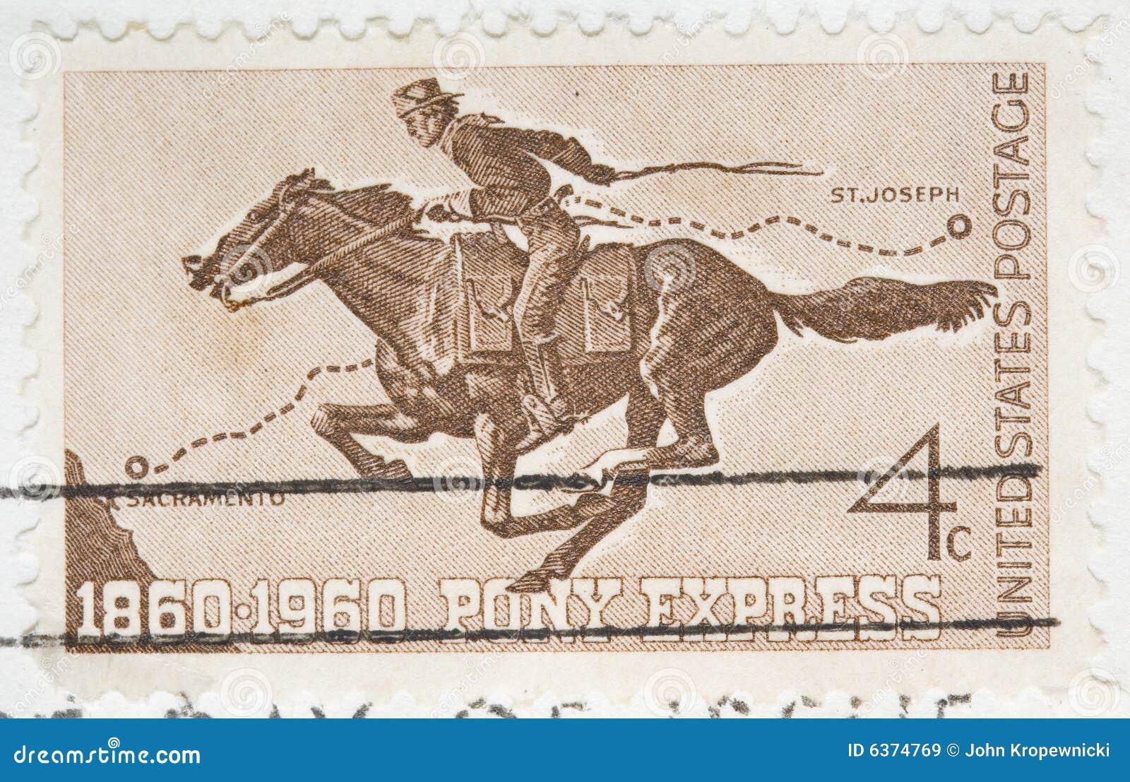 Weinlese 1960 beendete US-Stempel Pony-Eil