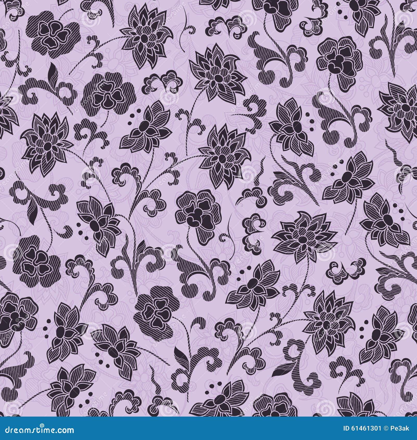 Weinlese blumenmuster der tapete nahtloses stock abbildung for Blumenmuster tapete
