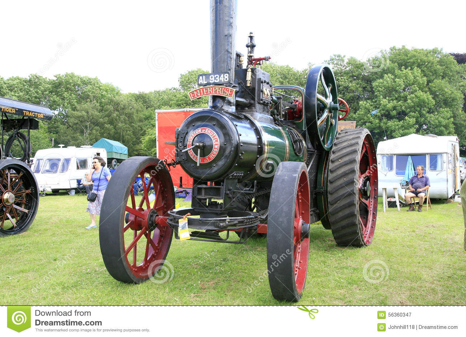 Weinlese Clayton 1911 u. Shuttleworth-Traktor