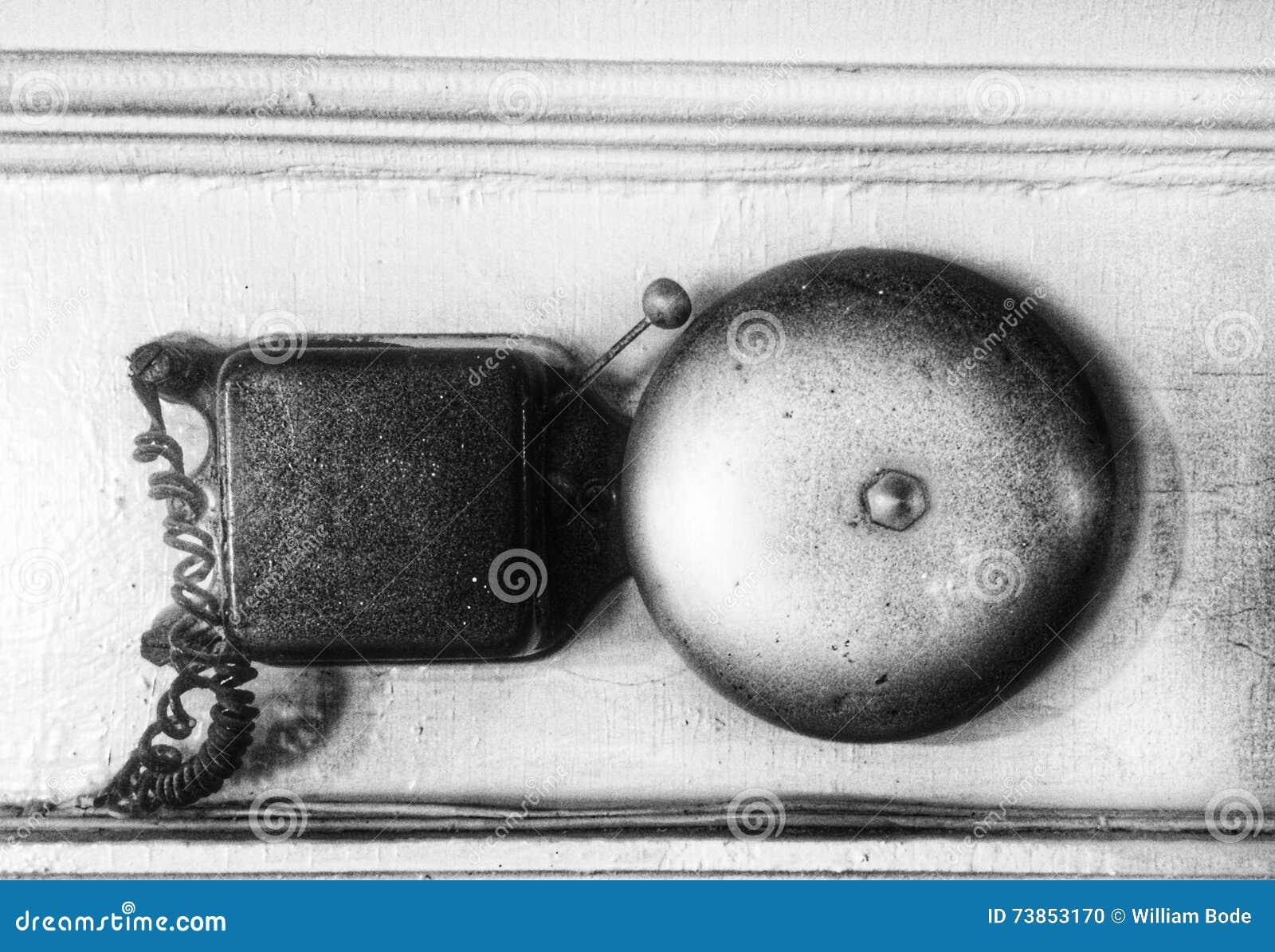 weinlese elektrische klingel stockfoto bild von geschn rt elektronisch 73853170