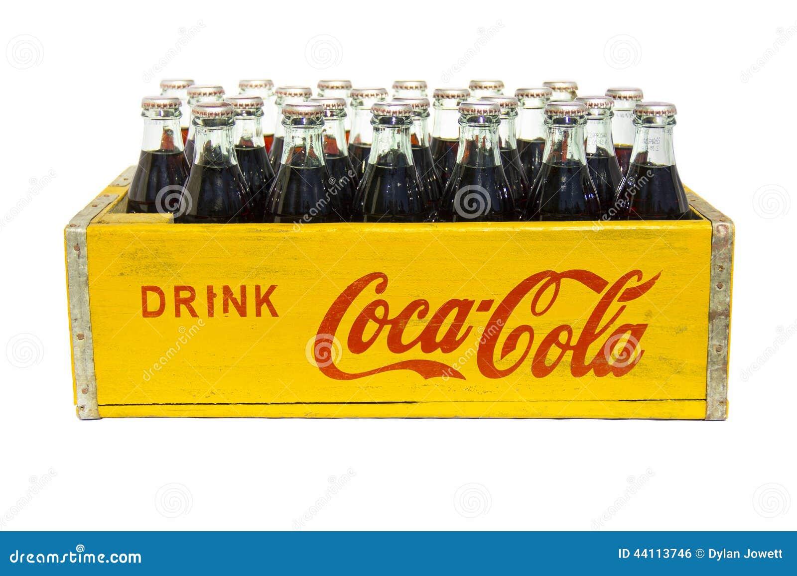 weinlese getr nk coca cola kiste mit flaschen. Black Bedroom Furniture Sets. Home Design Ideas