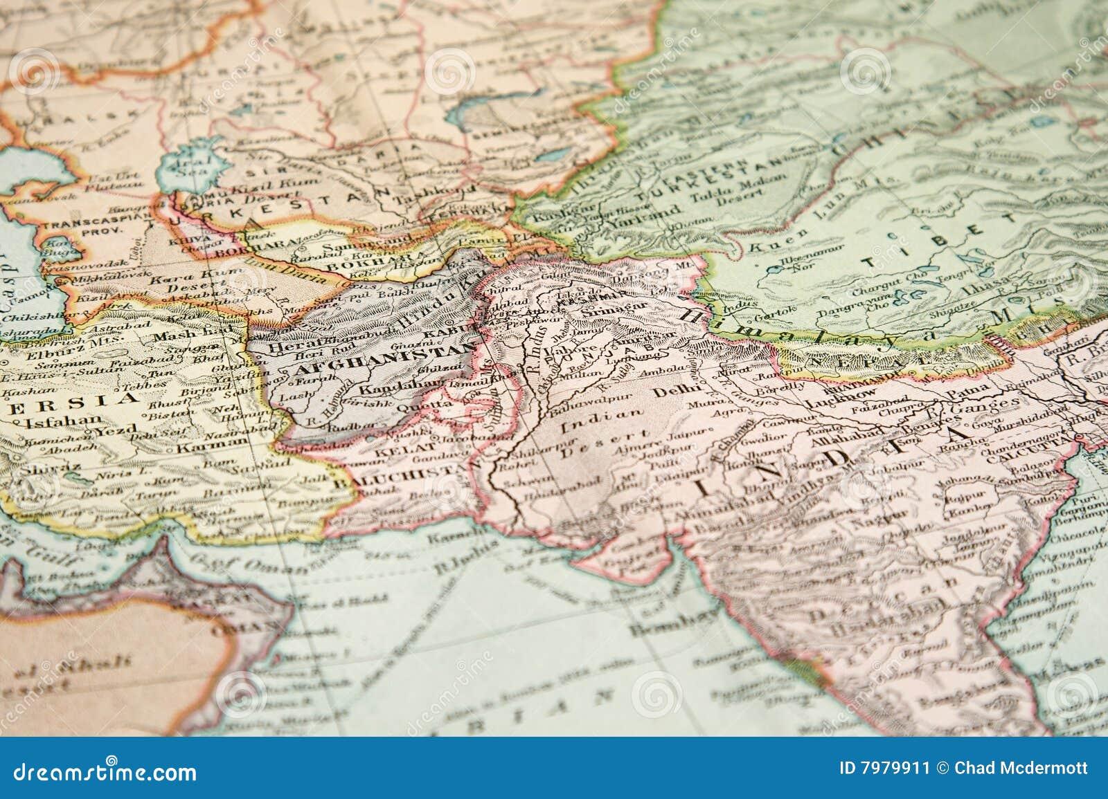 Persien Karte.Weinlese Karte Und Diagramm Stockbild Bild Von Persien Asien 7979911