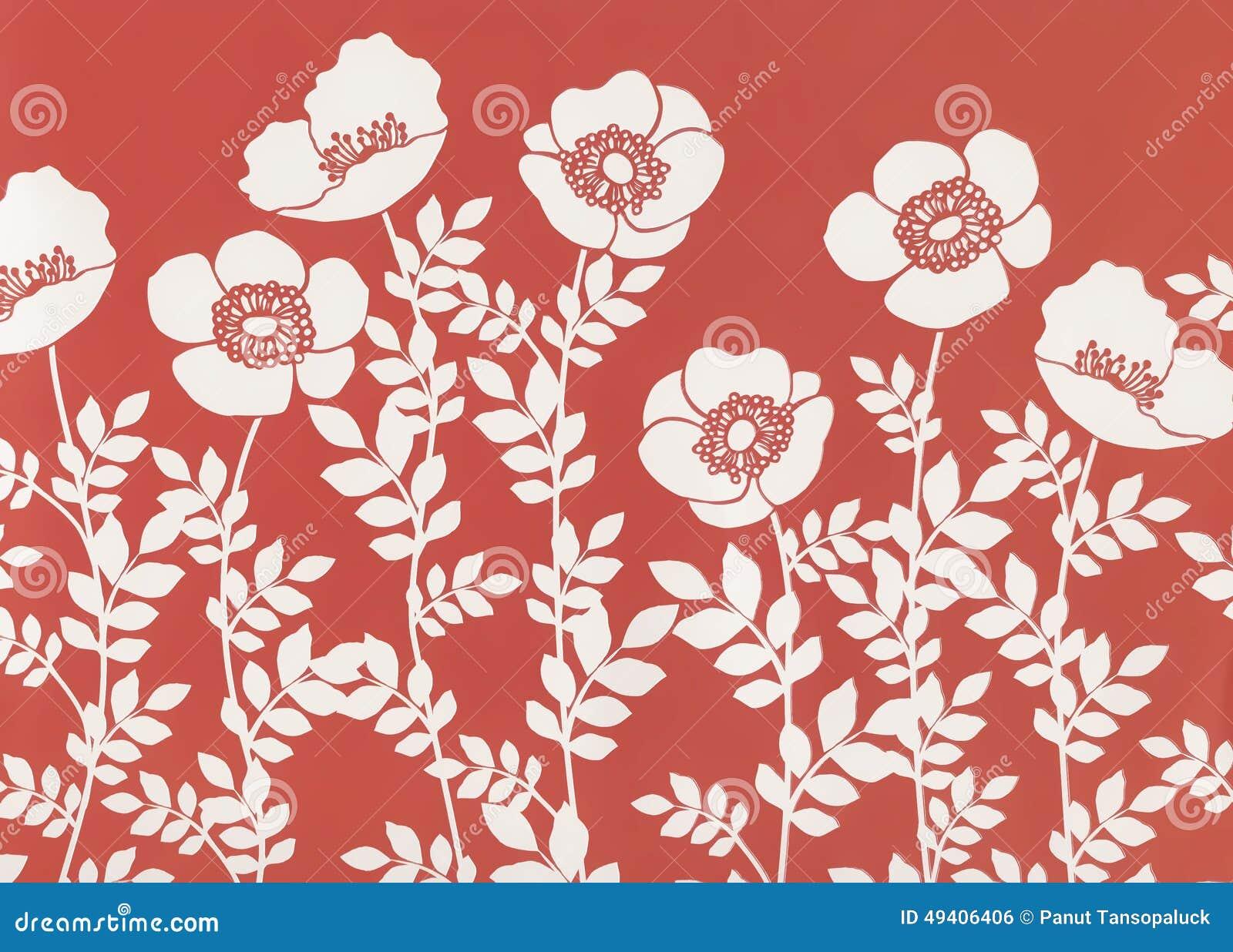 Download Weinlese Mit Blumen Stilvolle Dekorative Illustrationsbeschaffenheit Stock Abbildung - Illustration von graphik, stylize: 49406406