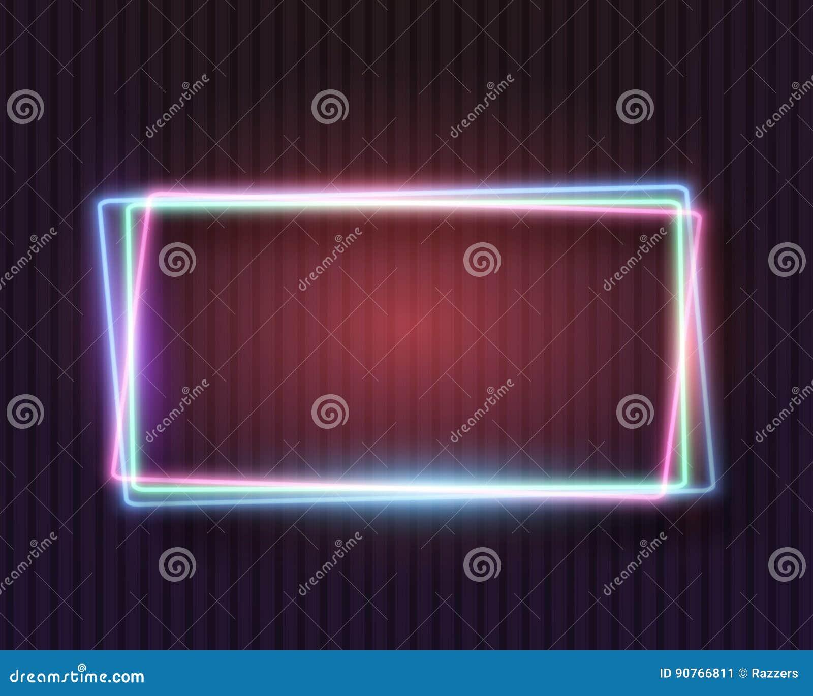 Weinlese-Neon-Rahmen vektor abbildung. Illustration von dekoration ...
