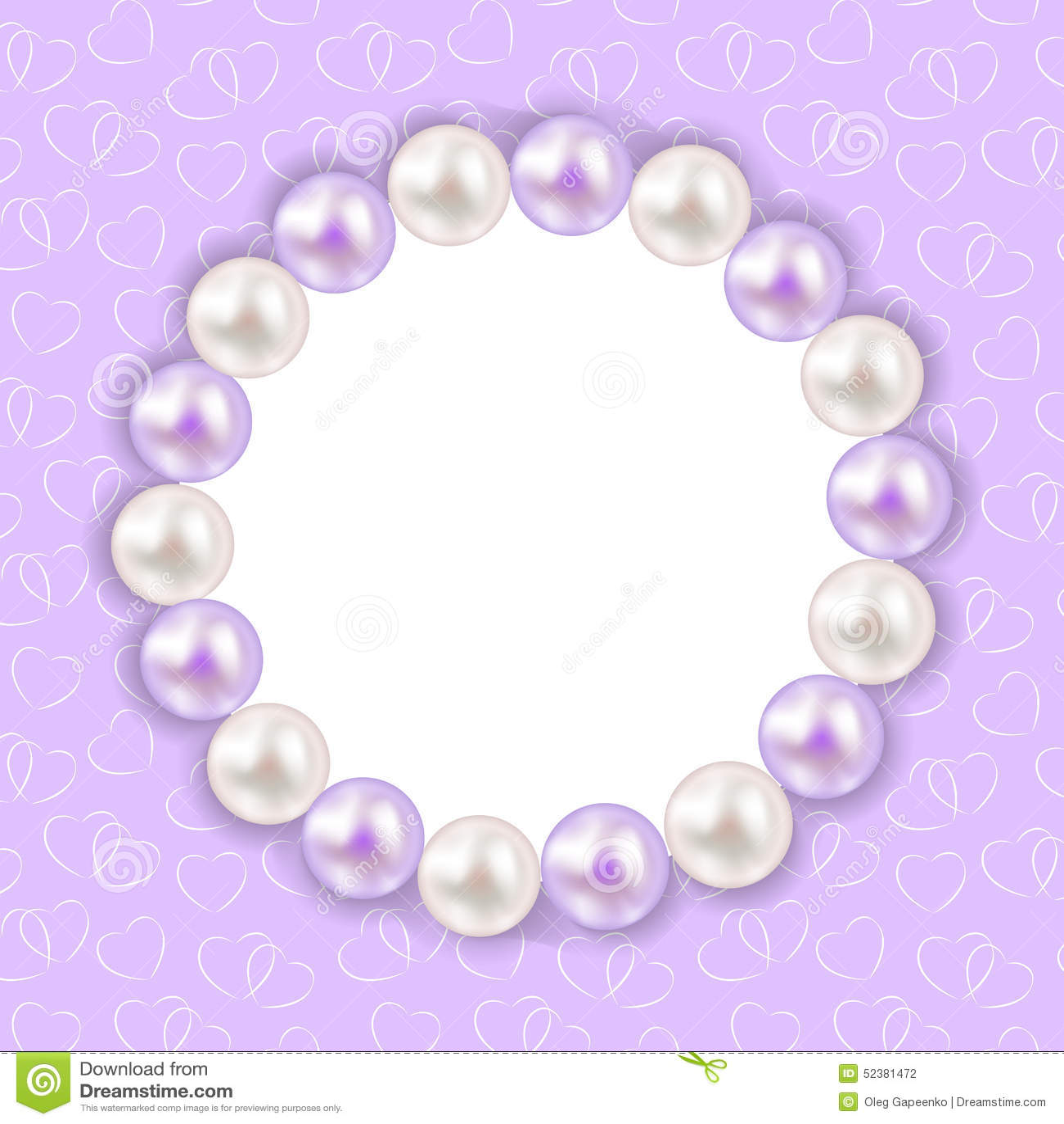 Weinlese-Perlen-Rahmen-Hintergrund Vektor Stockfoto - Bild von ...