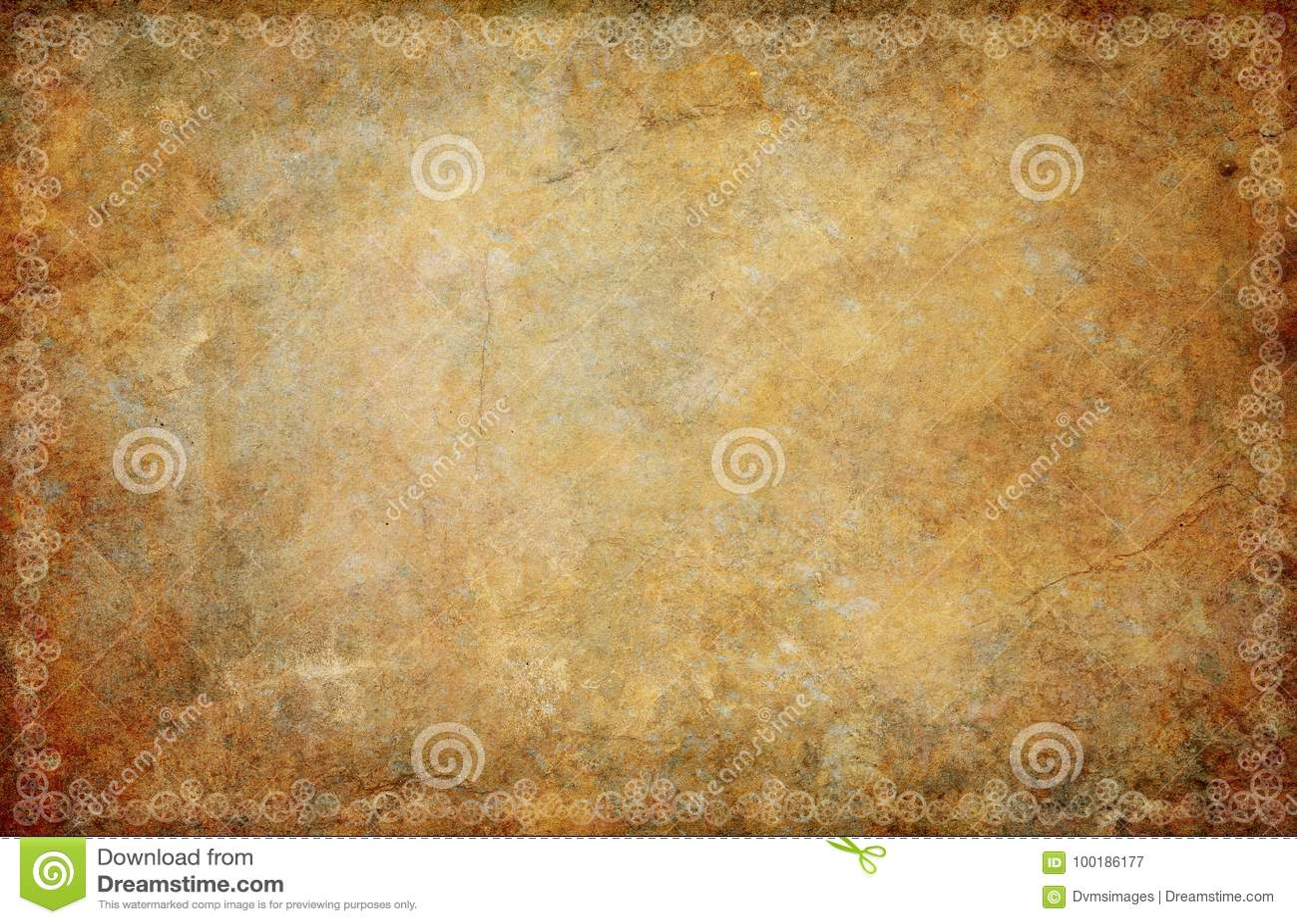 Weinlese Sepia-Schmutz Steampunk-Hintergrund-Grenze