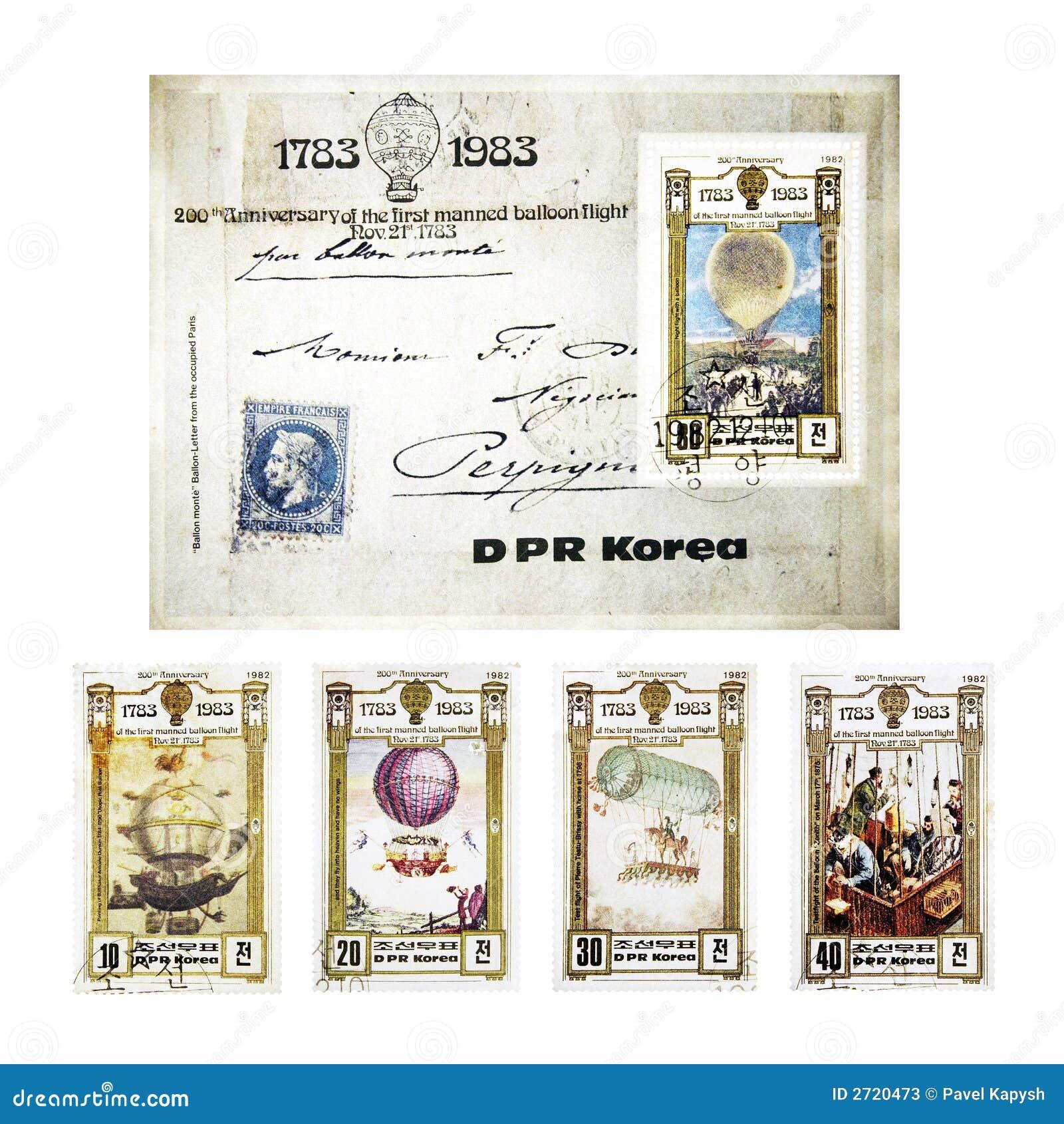 Weinlese-Stempel von DPR Korea