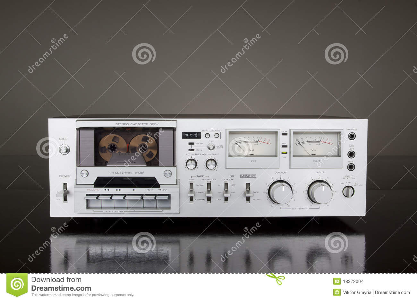 Weinlese-Stereokassetten-Kasettenrekorder-Schreiber