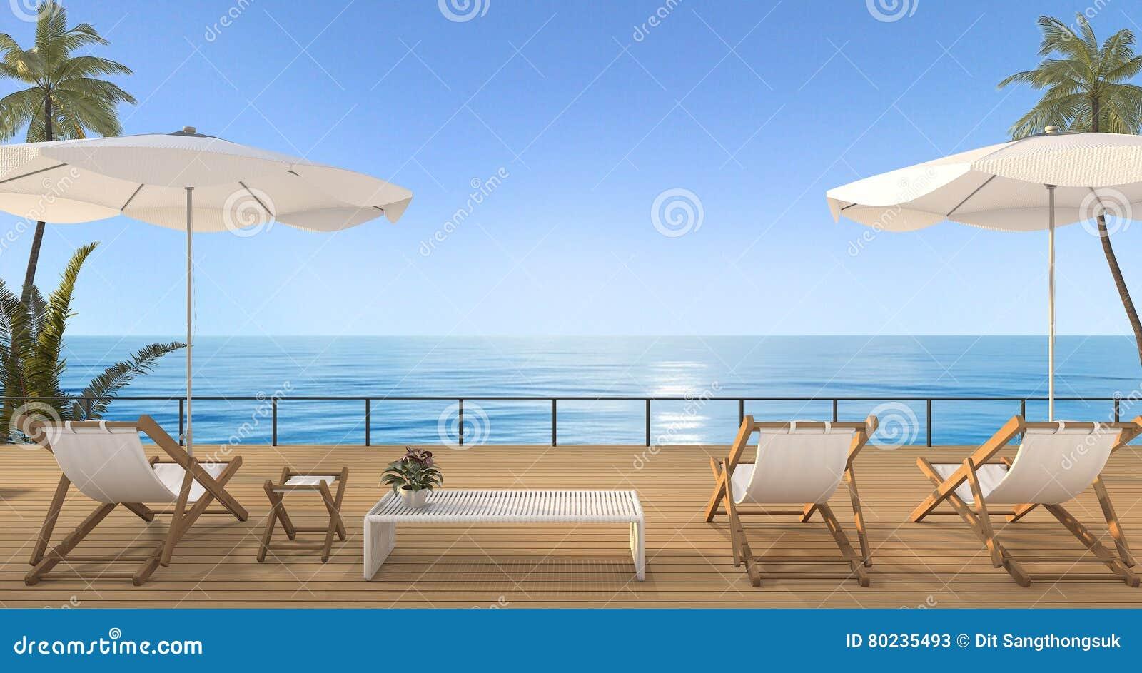 Weinlese strandbett der wiedergabe 3d auf h lzerner for Terrasse 3d