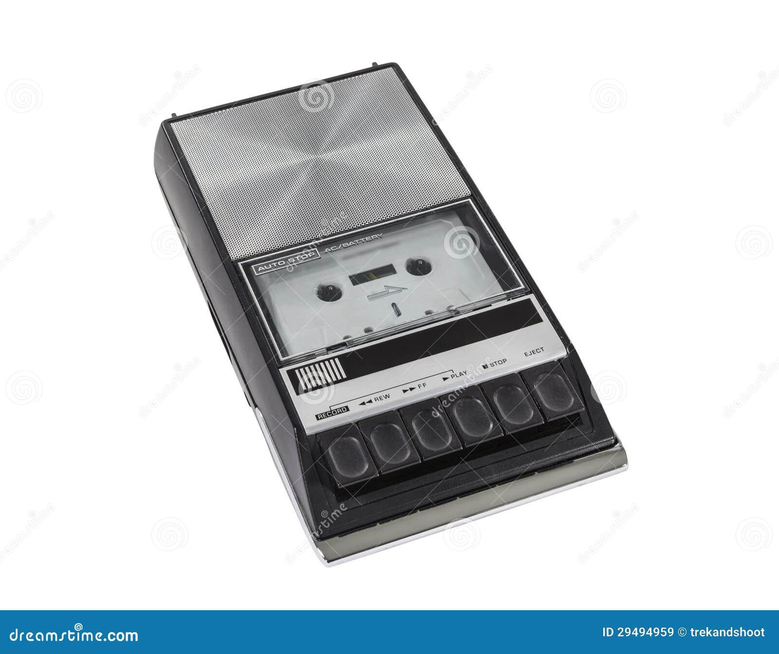 Weinlese-tragbarer Kassetten-Spieler und Schreiber