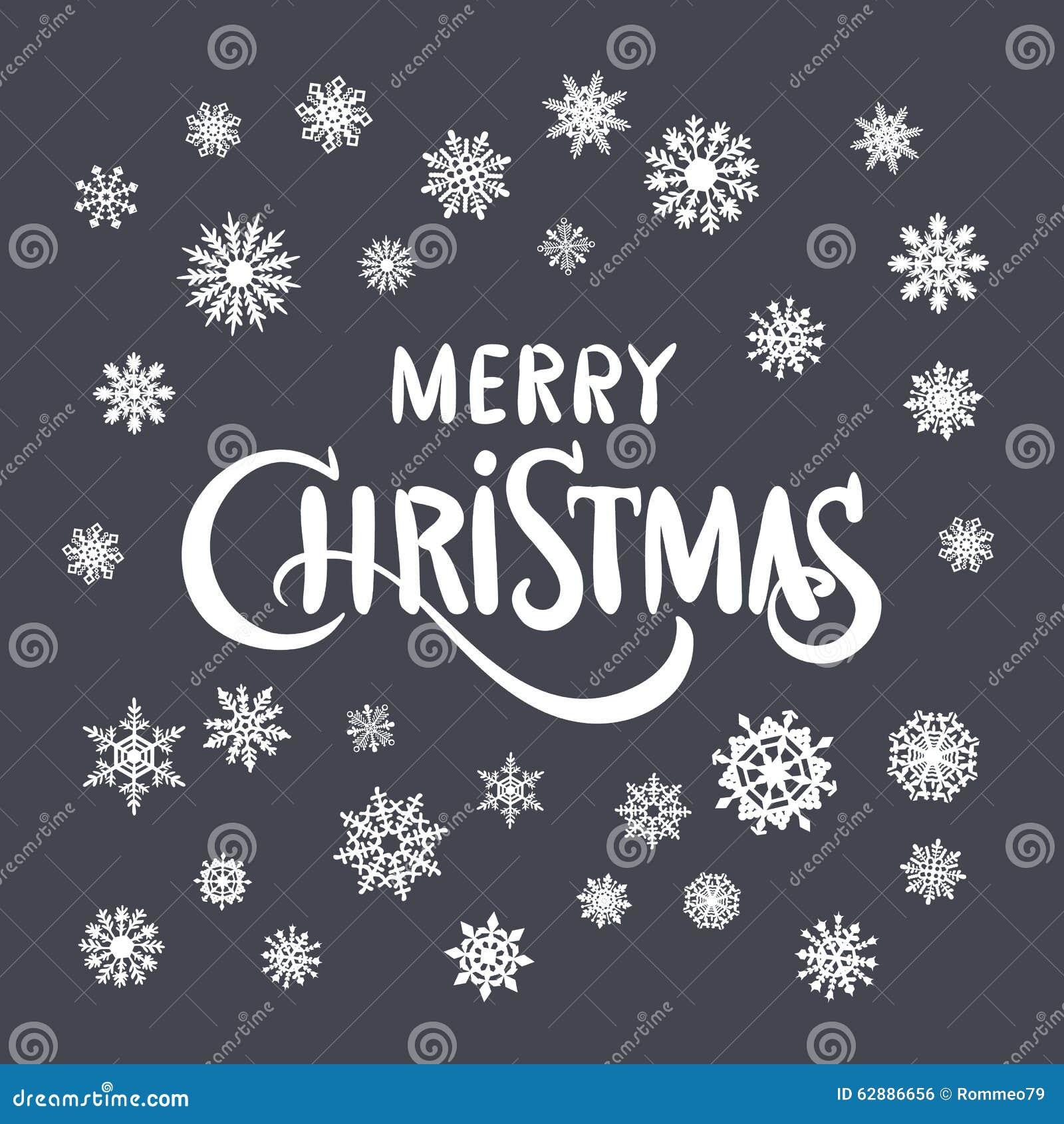 Weinlese Weihnachten Und Neues Jahr typografischer Hintergrund Auf Tafel Mit Kreide Vektor