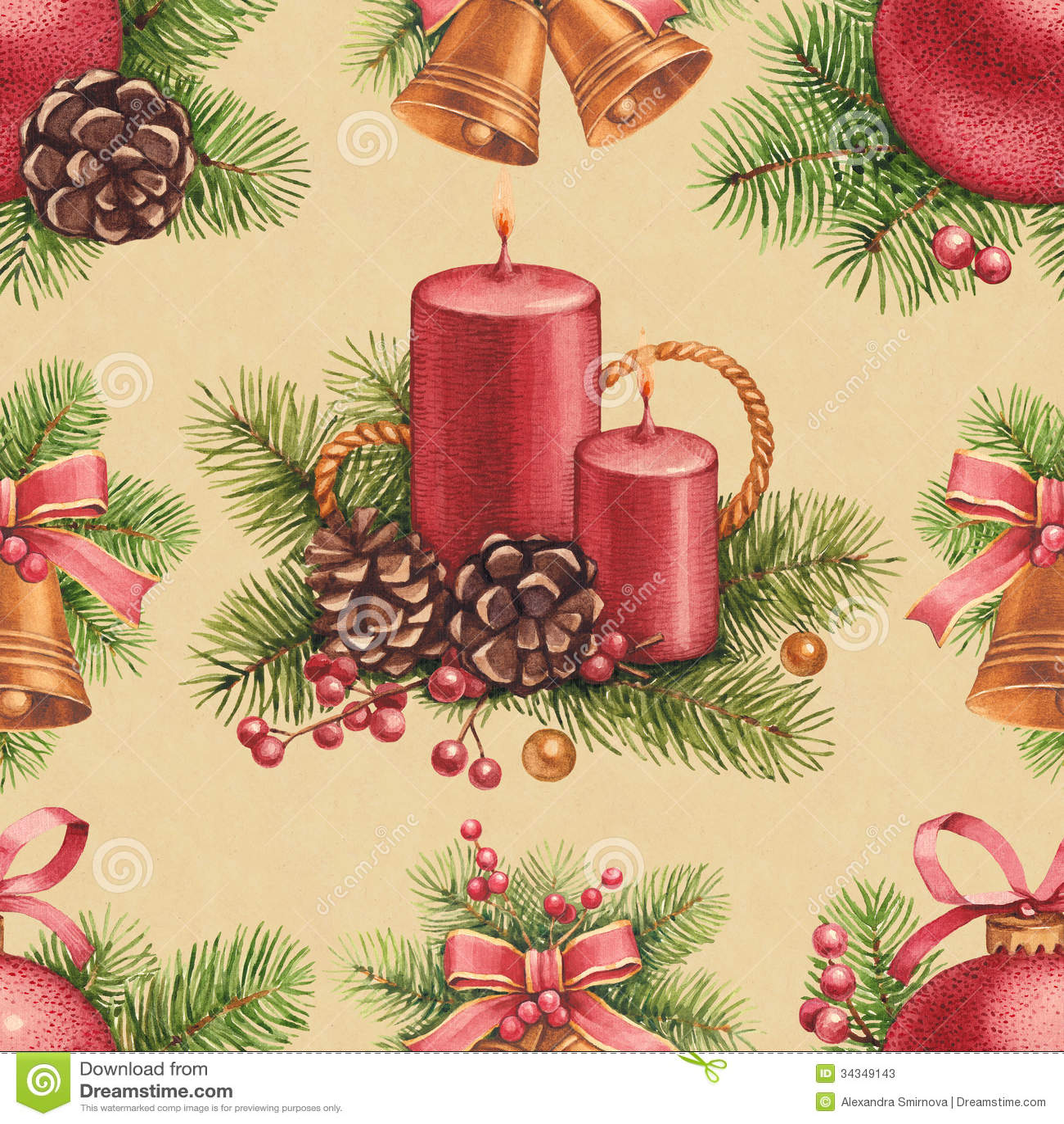 Weinlese-Weihnachtsmuster