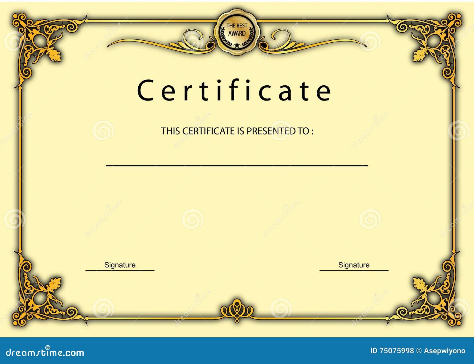 Weinlese-Zertifikat-Preis/Diplom-Schablone