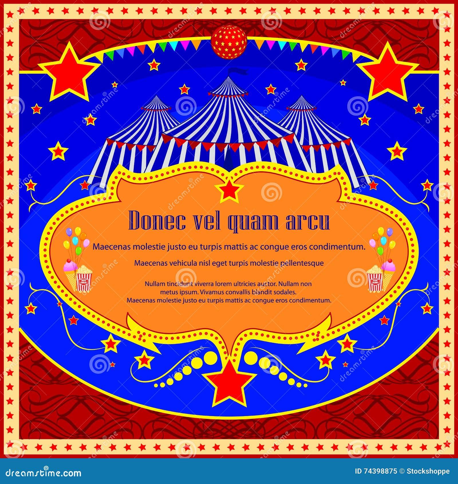 weinlese-zirkus-karikatur-plakat-einladung für partei-karneval, Einladungen